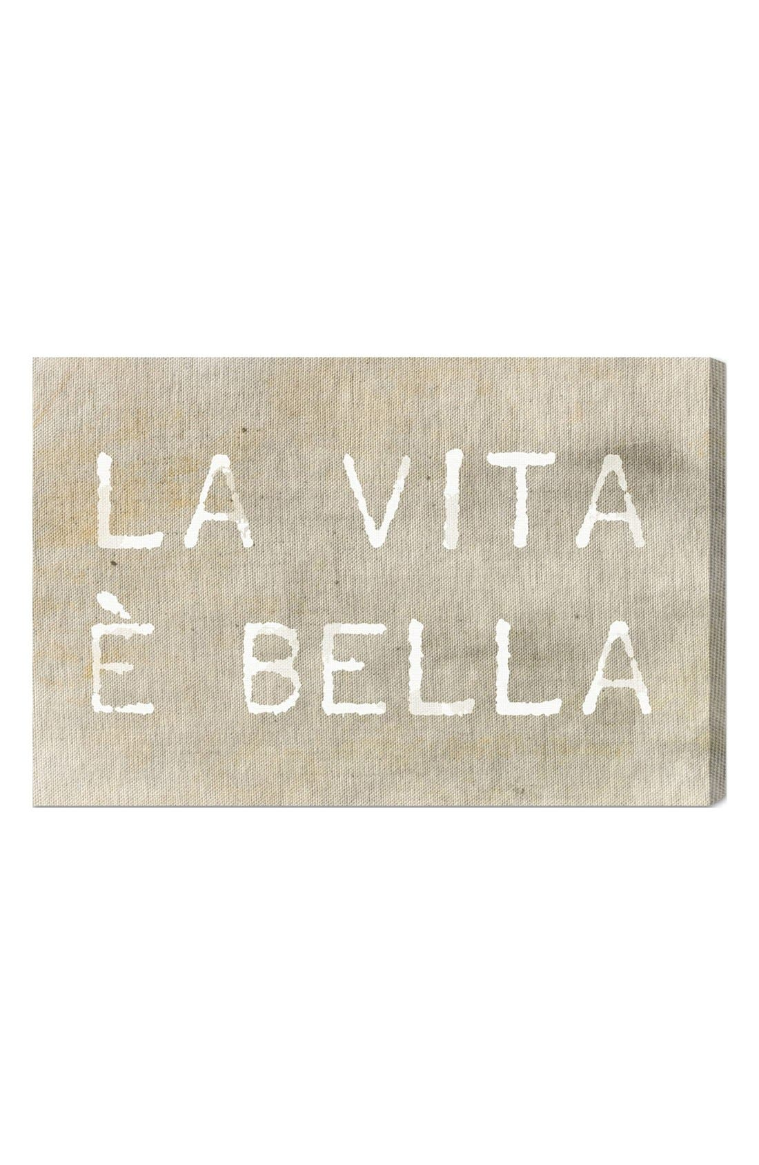 'La Vita È Bella' Wall Art,                             Main thumbnail 1, color,                             250