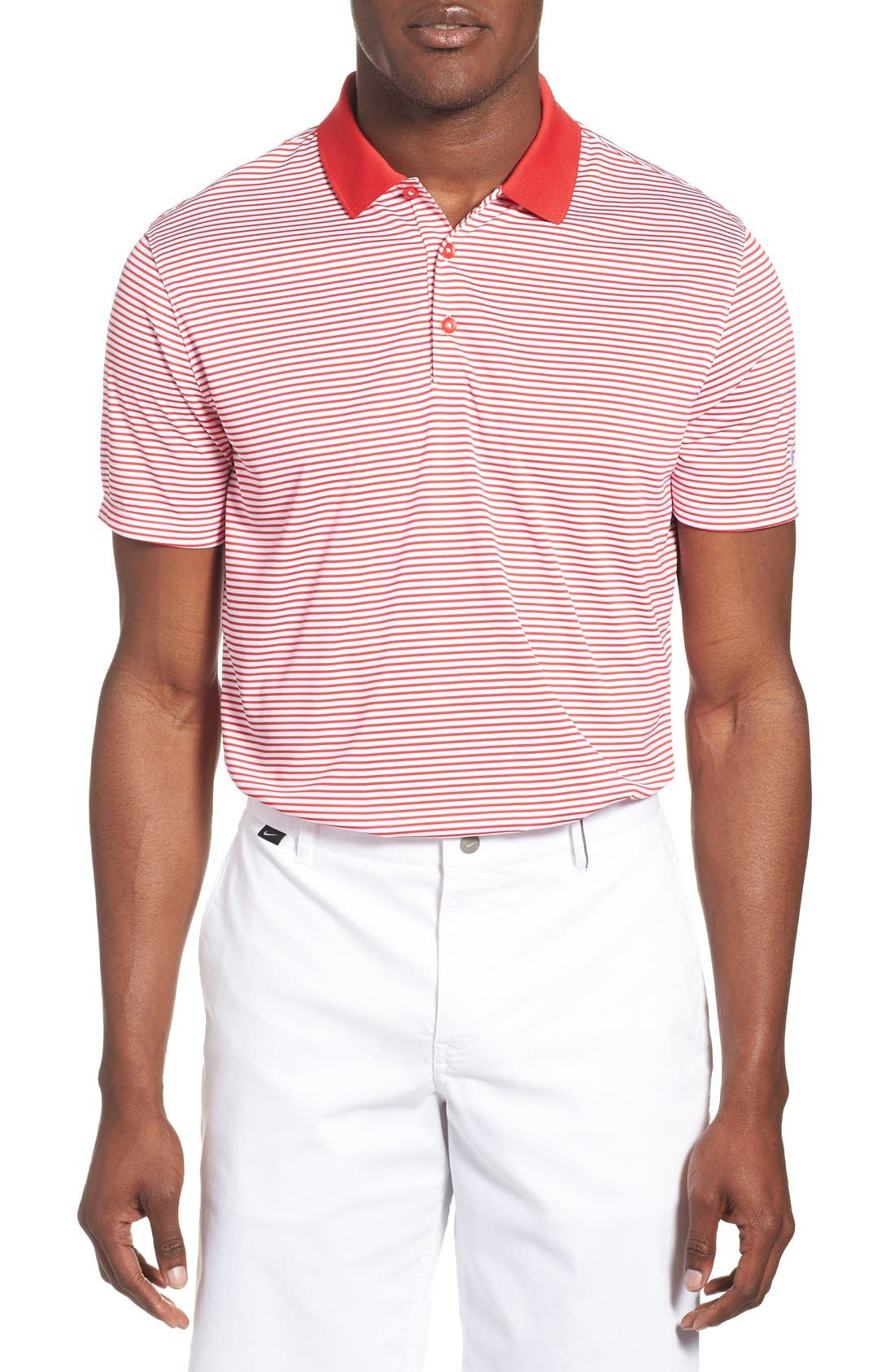 'Victory Stripe' Dri-FIT Golf Polo,                             Main thumbnail 8, color,