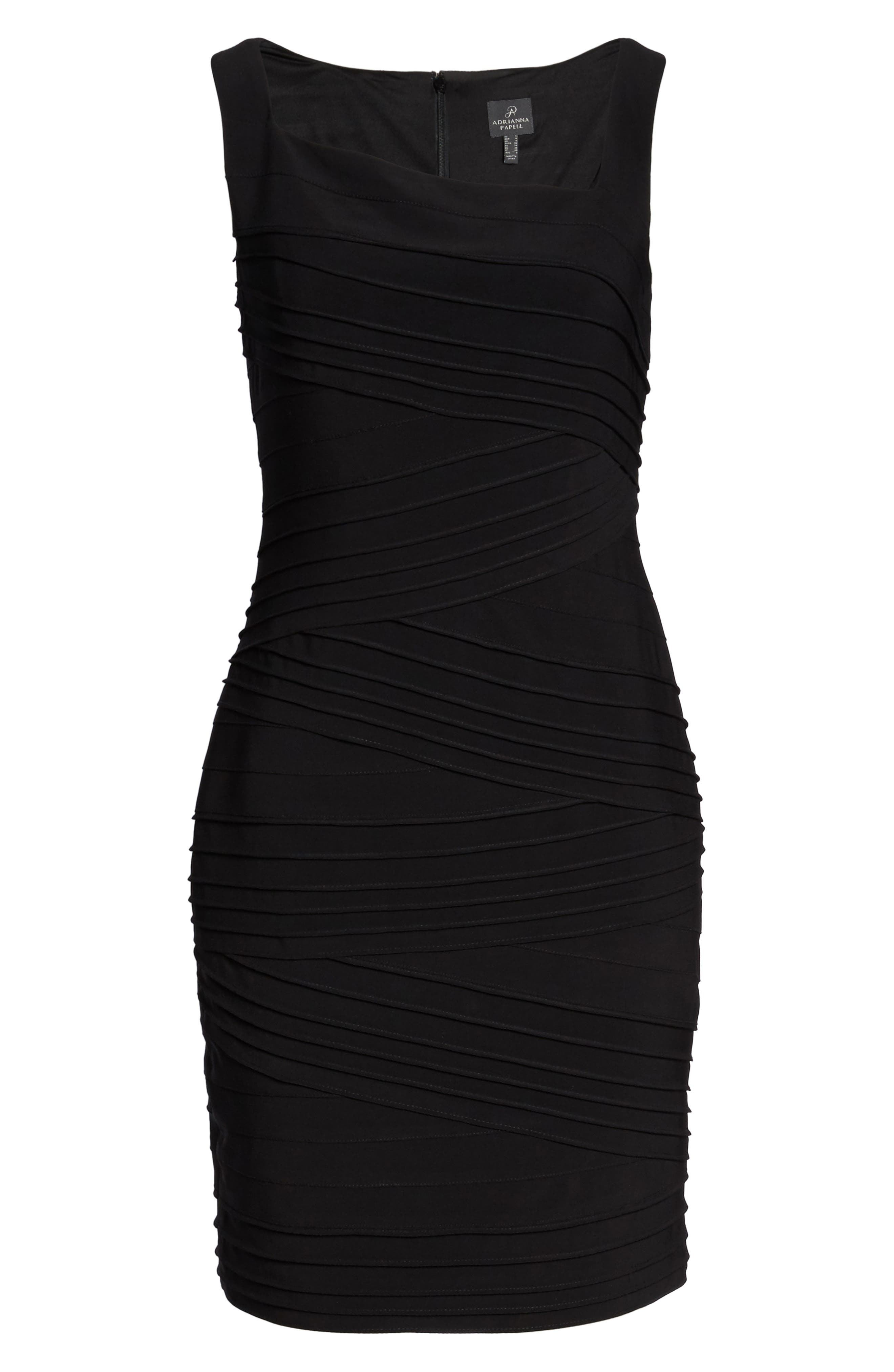 Banded Body-Con Dress,                             Alternate thumbnail 6, color,                             002