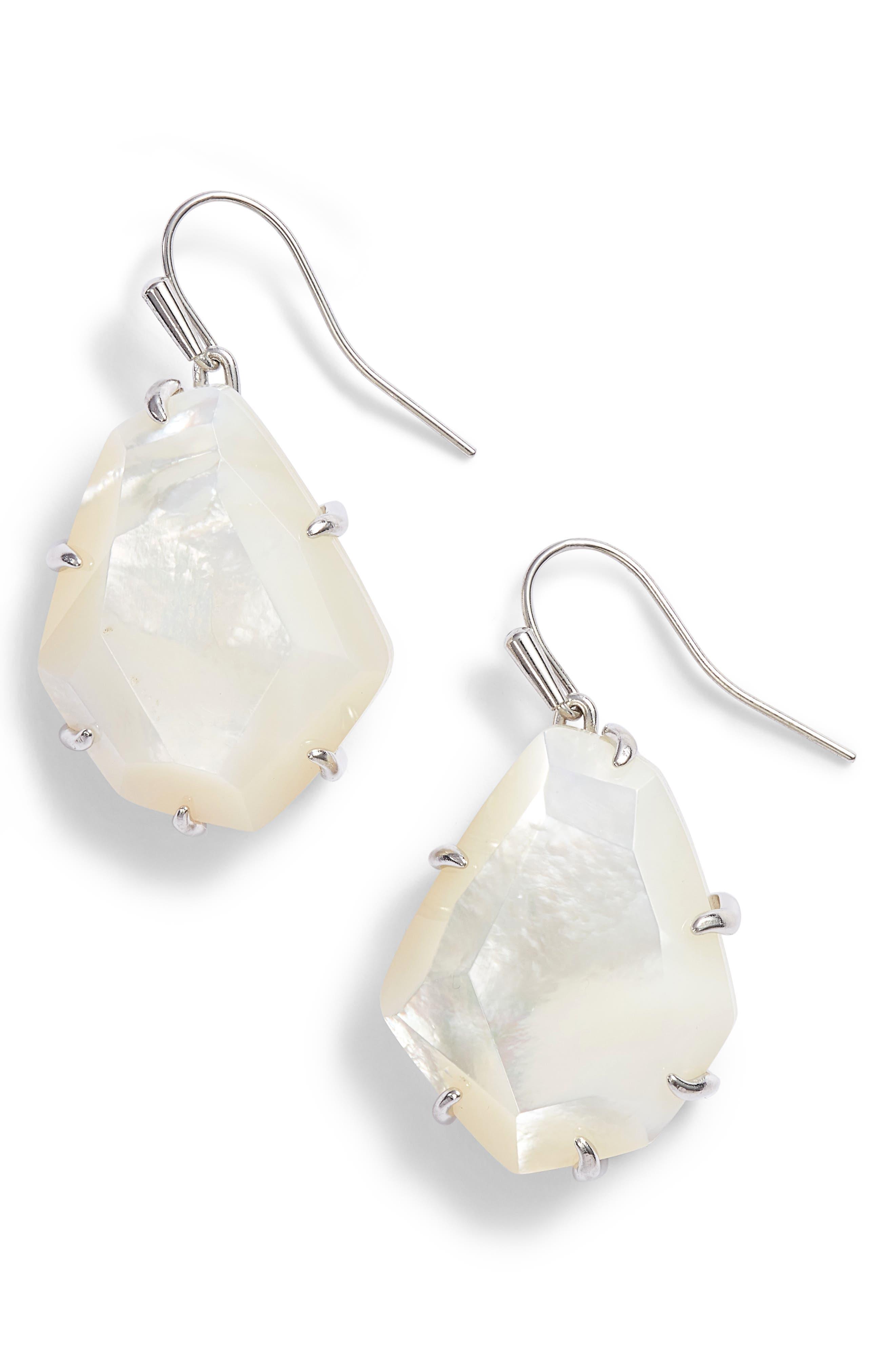 Rosenell Stone Earrings,                         Main,                         color, 100