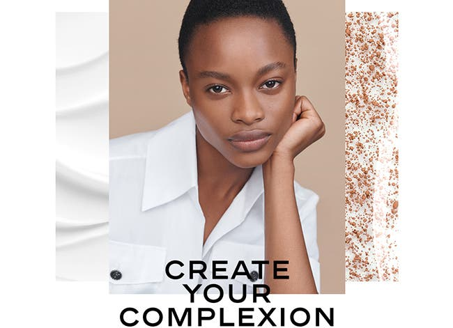 Create your complexion with CHANEL skin care and makeup.