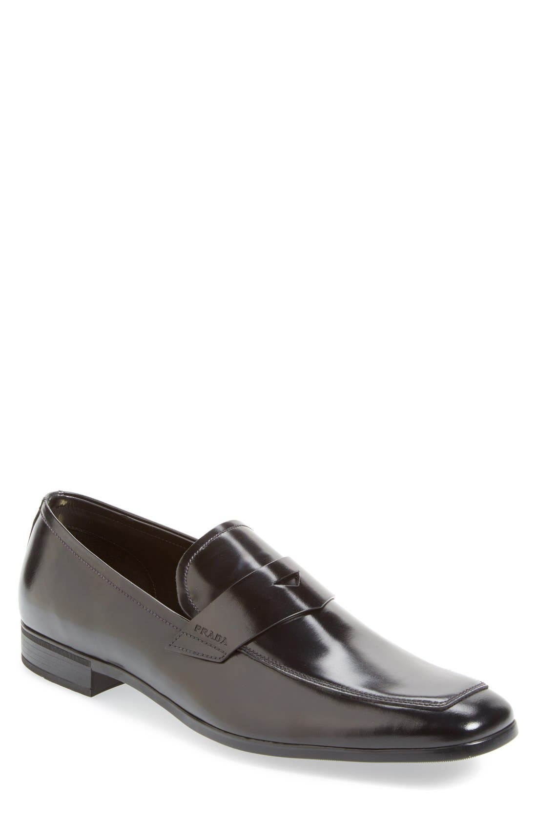 Spazzolato Penny Loafer, Main, color, 001