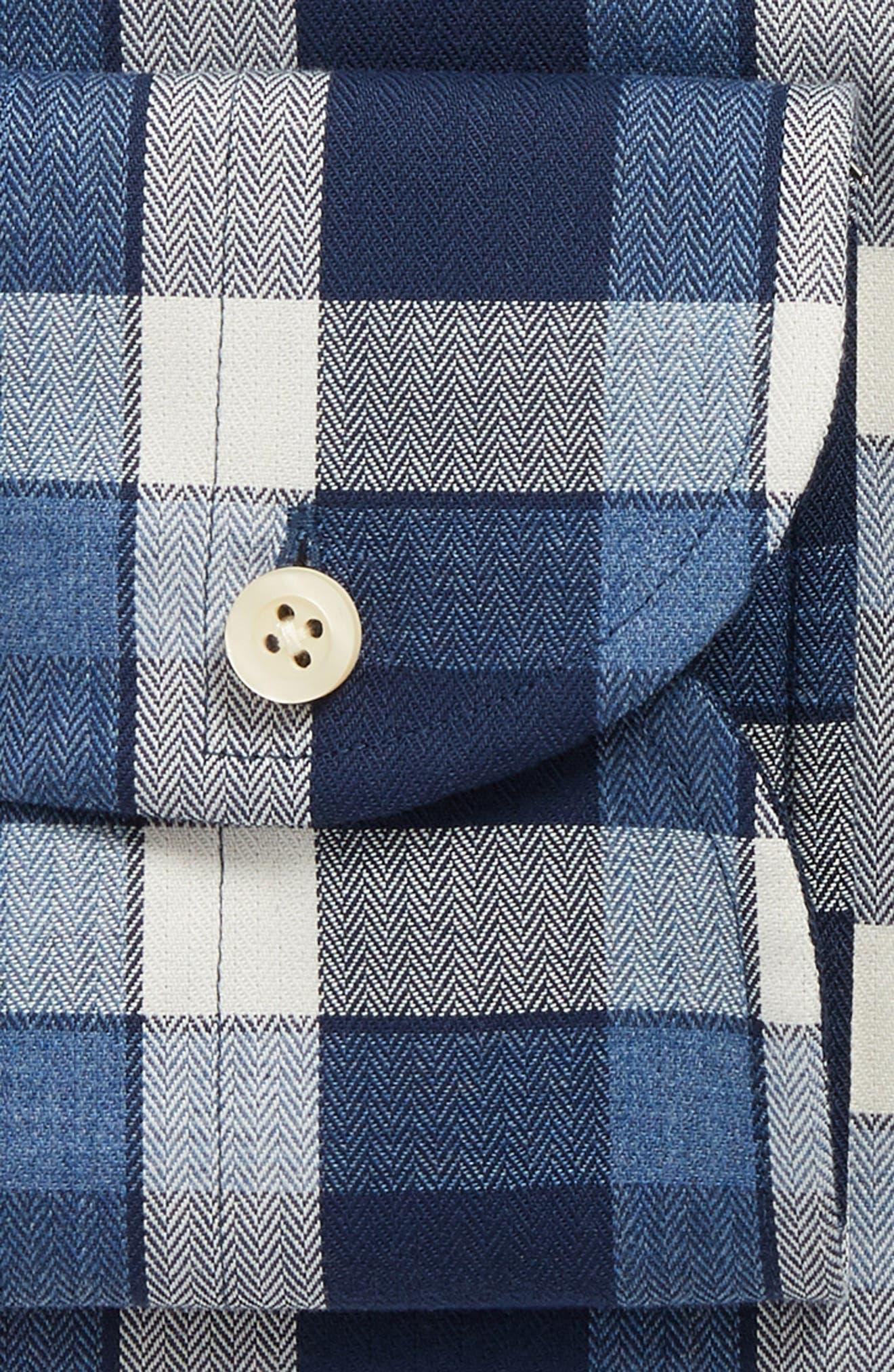 LEDBURY,                             The Dietz Slim Fit Plaid Dress Shirt,                             Alternate thumbnail 6, color,                             410