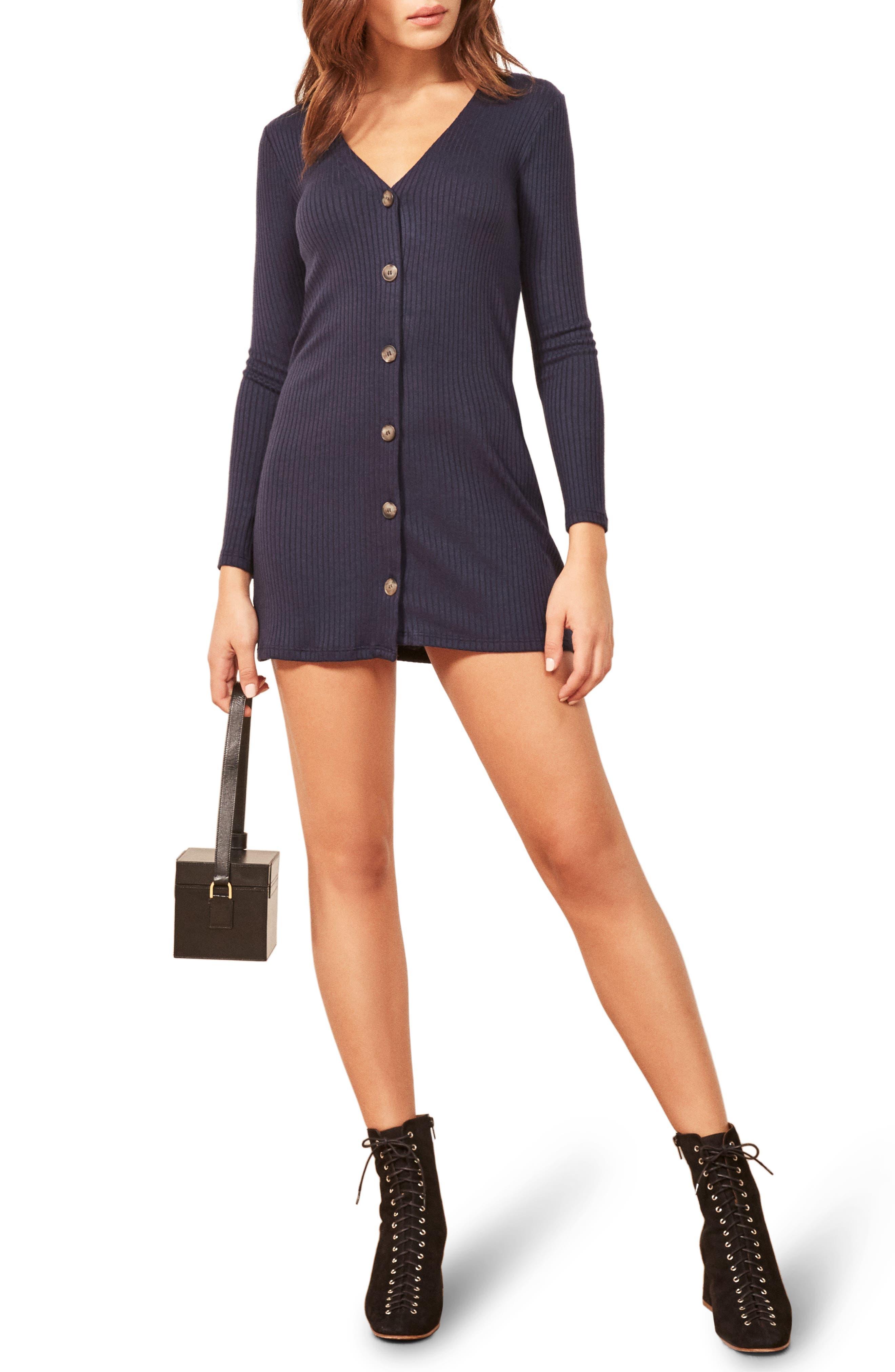 Agatha Dress,                         Main,                         color, NAVY