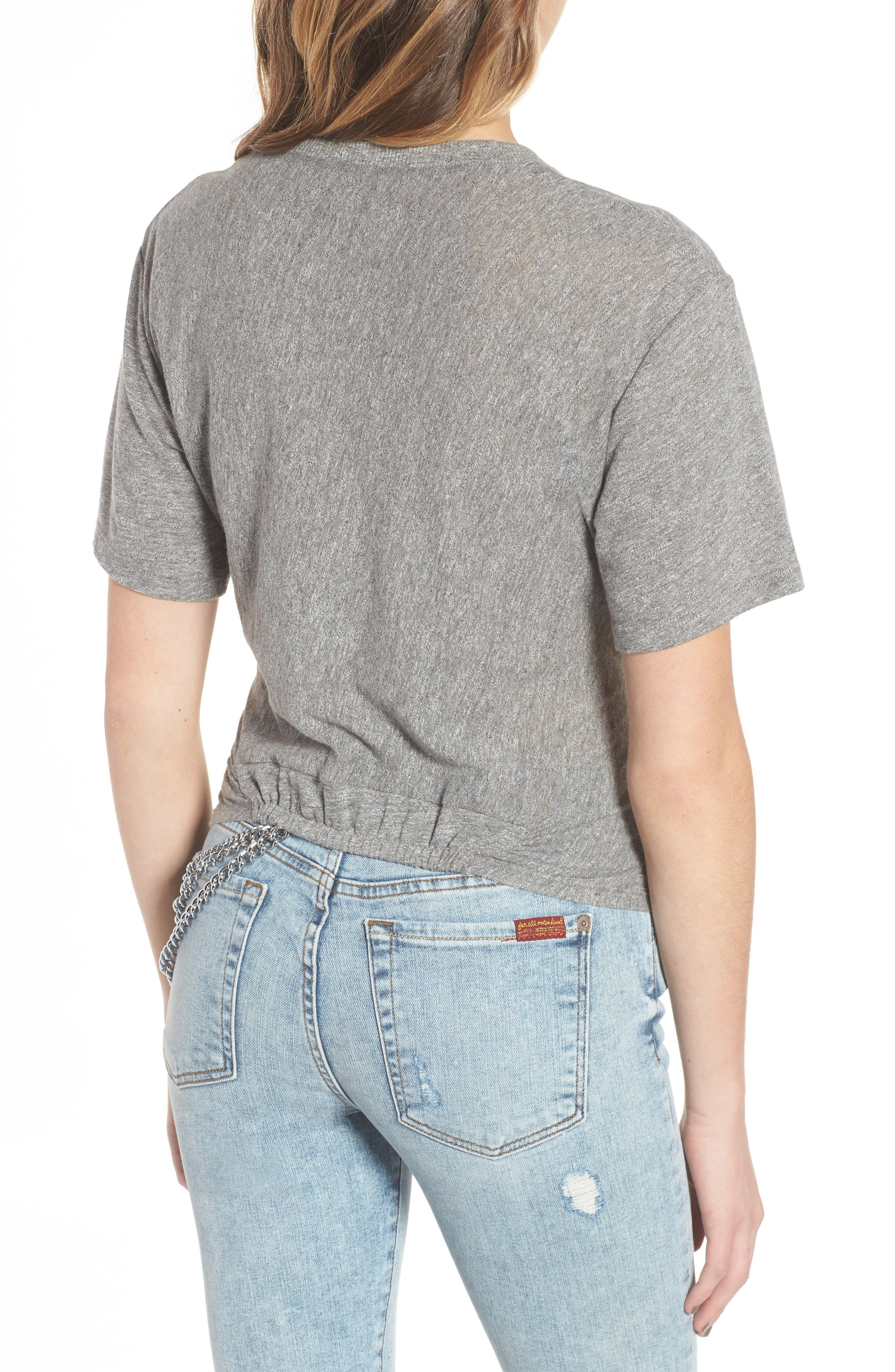 7 FOR ALL MANKIND<SUP>®</SUP>,                             Knotted Tee,                             Alternate thumbnail 2, color,                             021