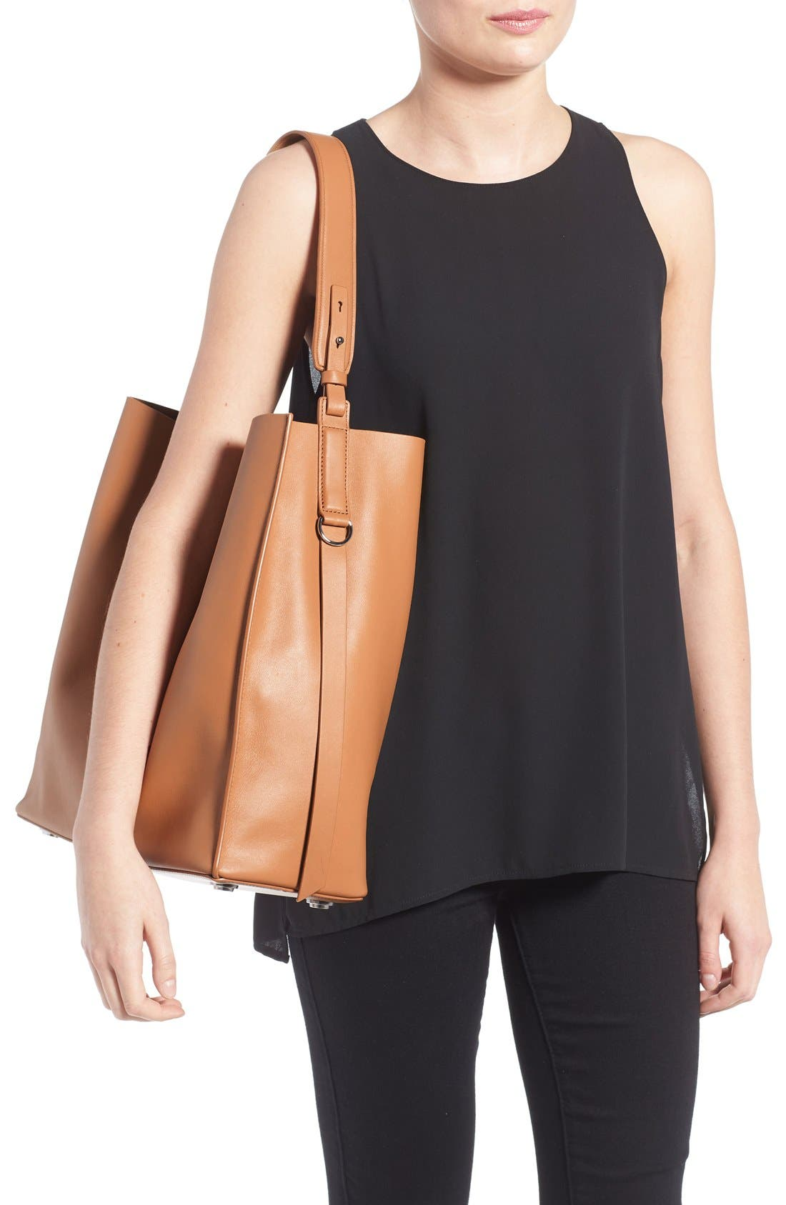 'Paradise North/South' Calfskin Leather Tote,                             Alternate thumbnail 18, color,