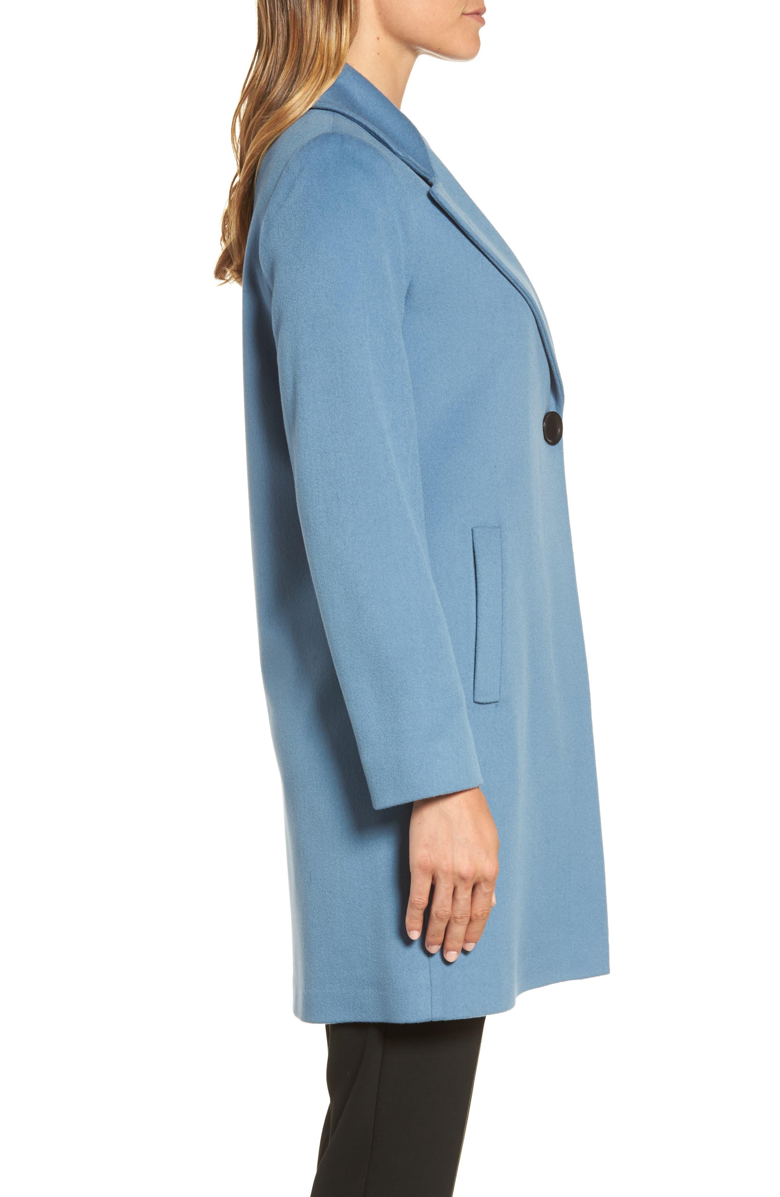 Single Button Wool Coat,                             Alternate thumbnail 3, color,                             425
