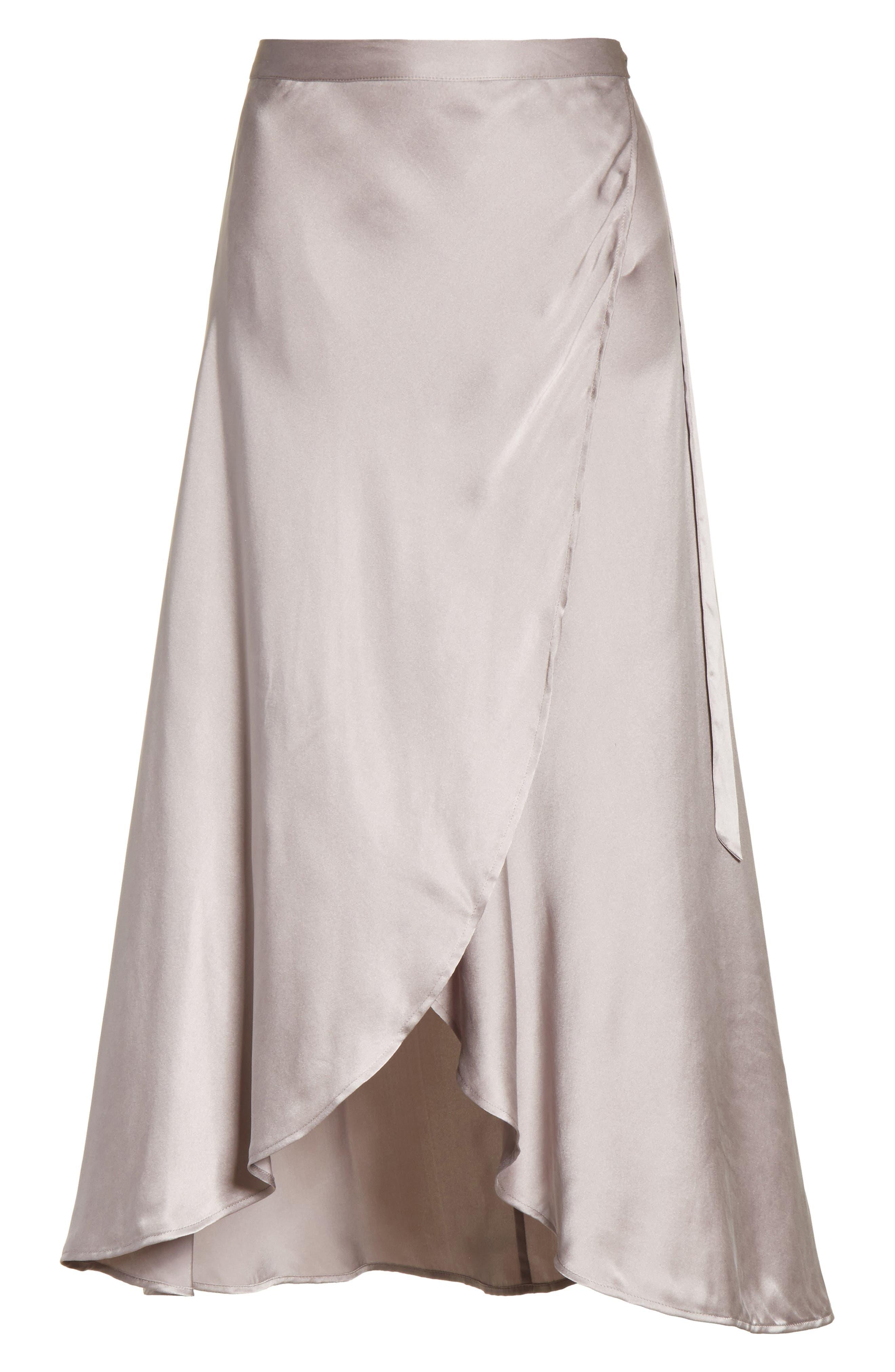 Dahoma Silk Wrap Midi Skirt,                             Alternate thumbnail 6, color,                             042