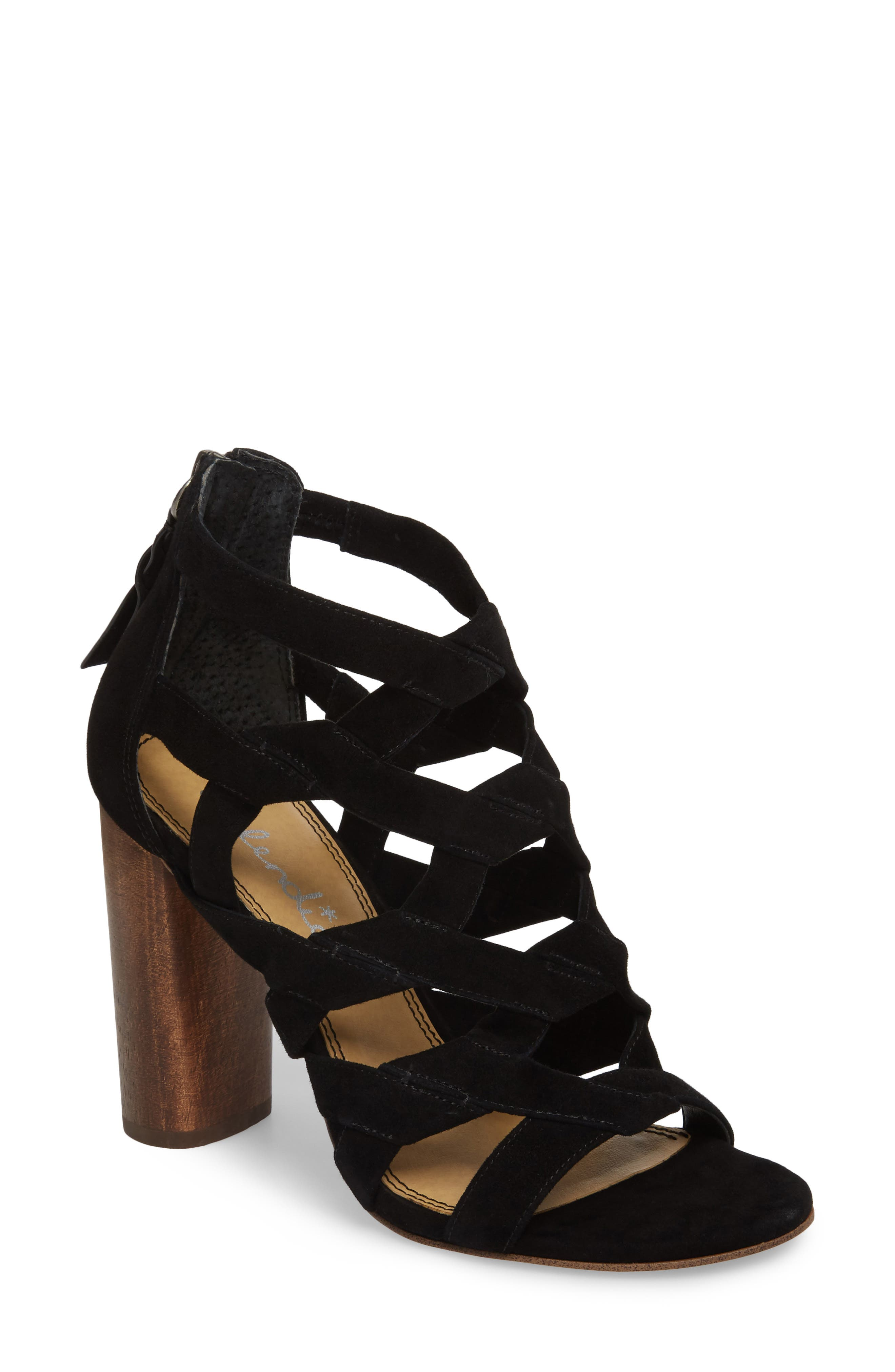 Bartlett Angled Cage Sandal,                             Main thumbnail 1, color,                             013