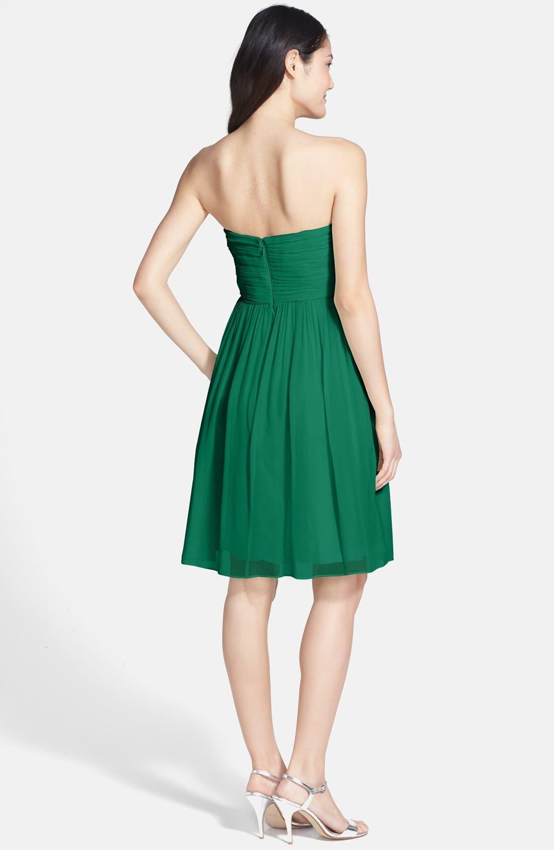 'Morgan' Strapless Silk Chiffon Dress,                             Alternate thumbnail 80, color,