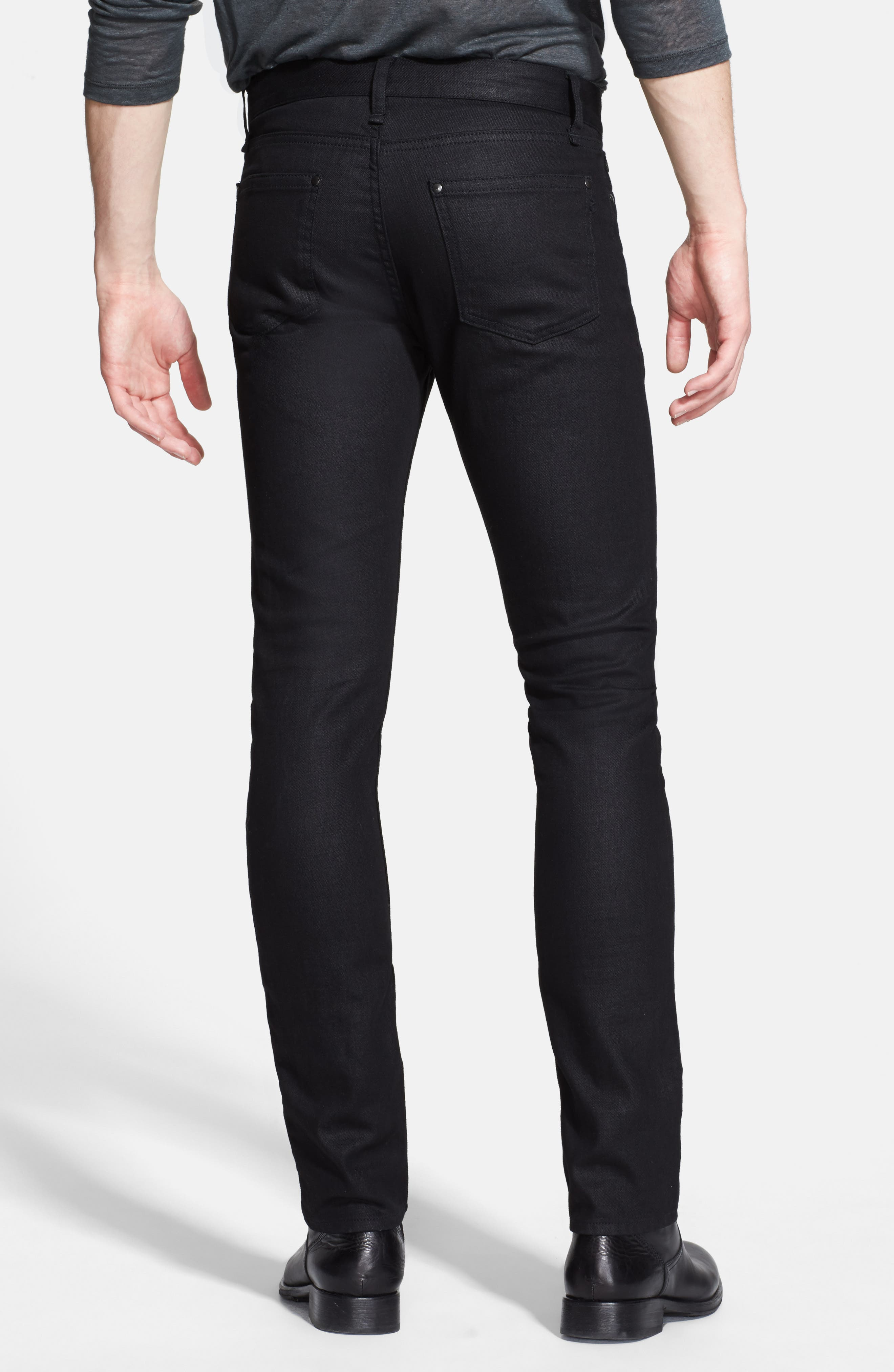 Skinny Fit Coated Jeans,                             Alternate thumbnail 2, color,                             001