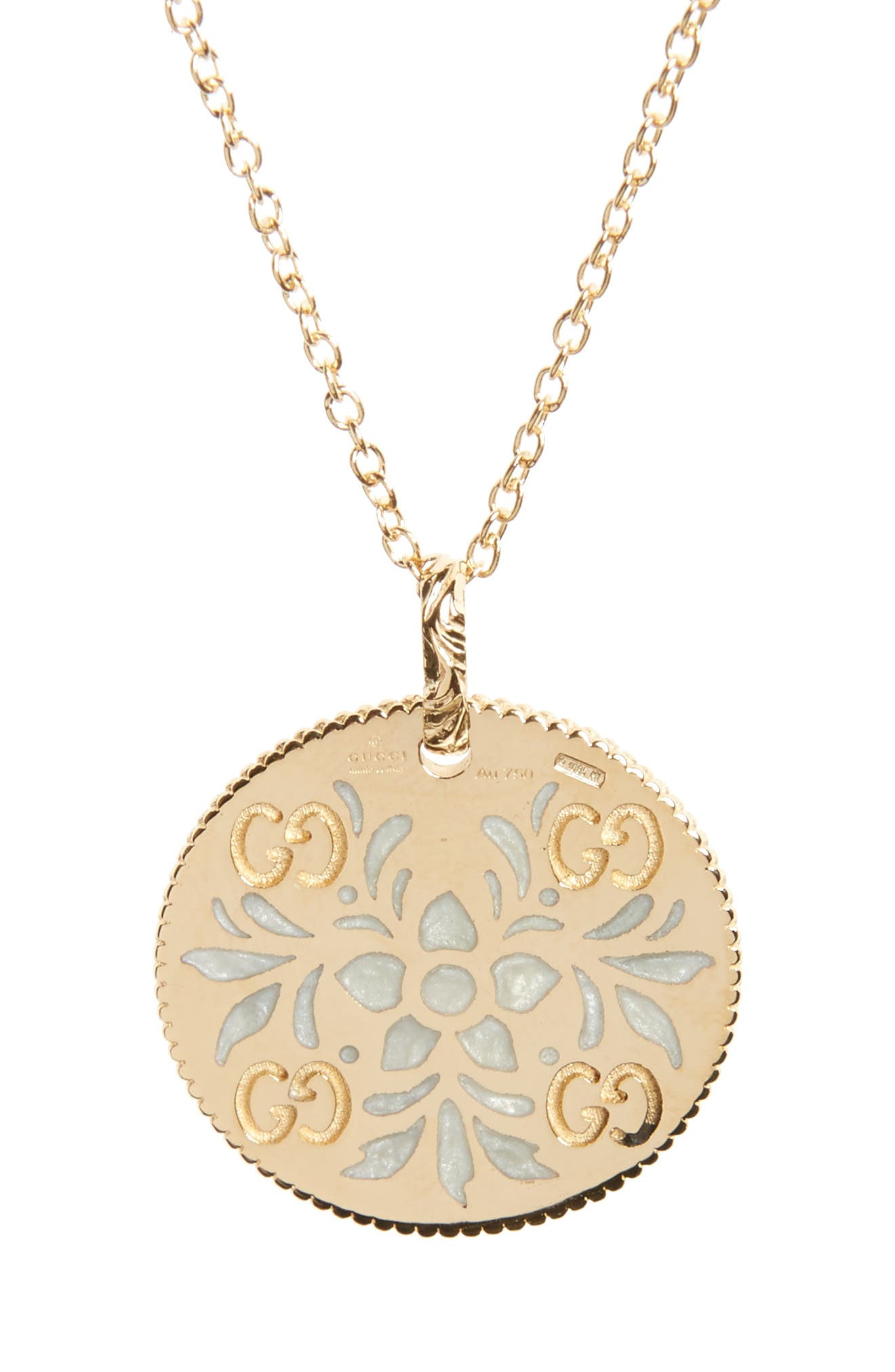 Icon Blooms Pendant Necklace,                             Main thumbnail 1, color,                             YELLOW GOLD
