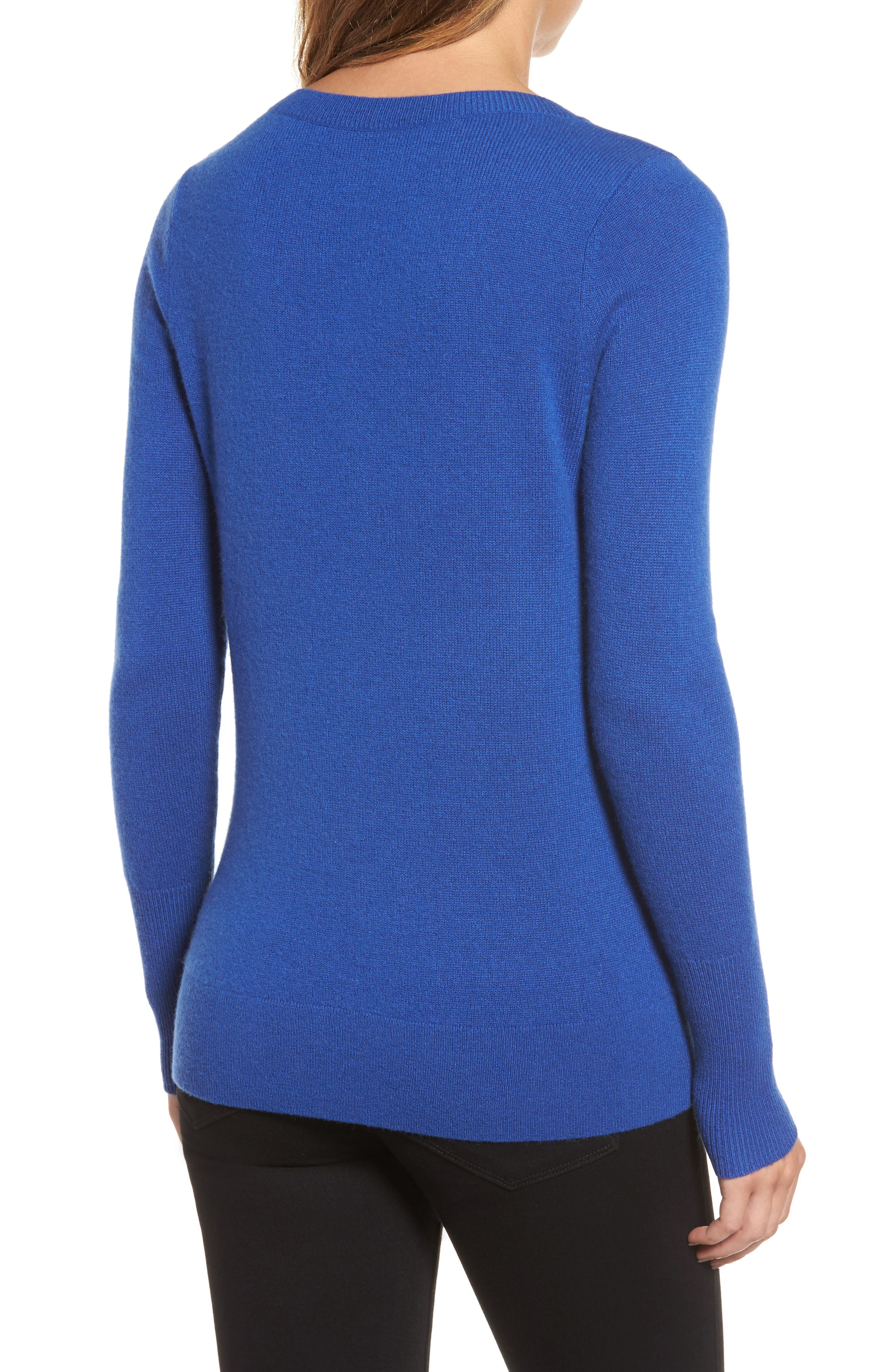 V-Neck Cashmere Sweater,                             Alternate thumbnail 33, color,