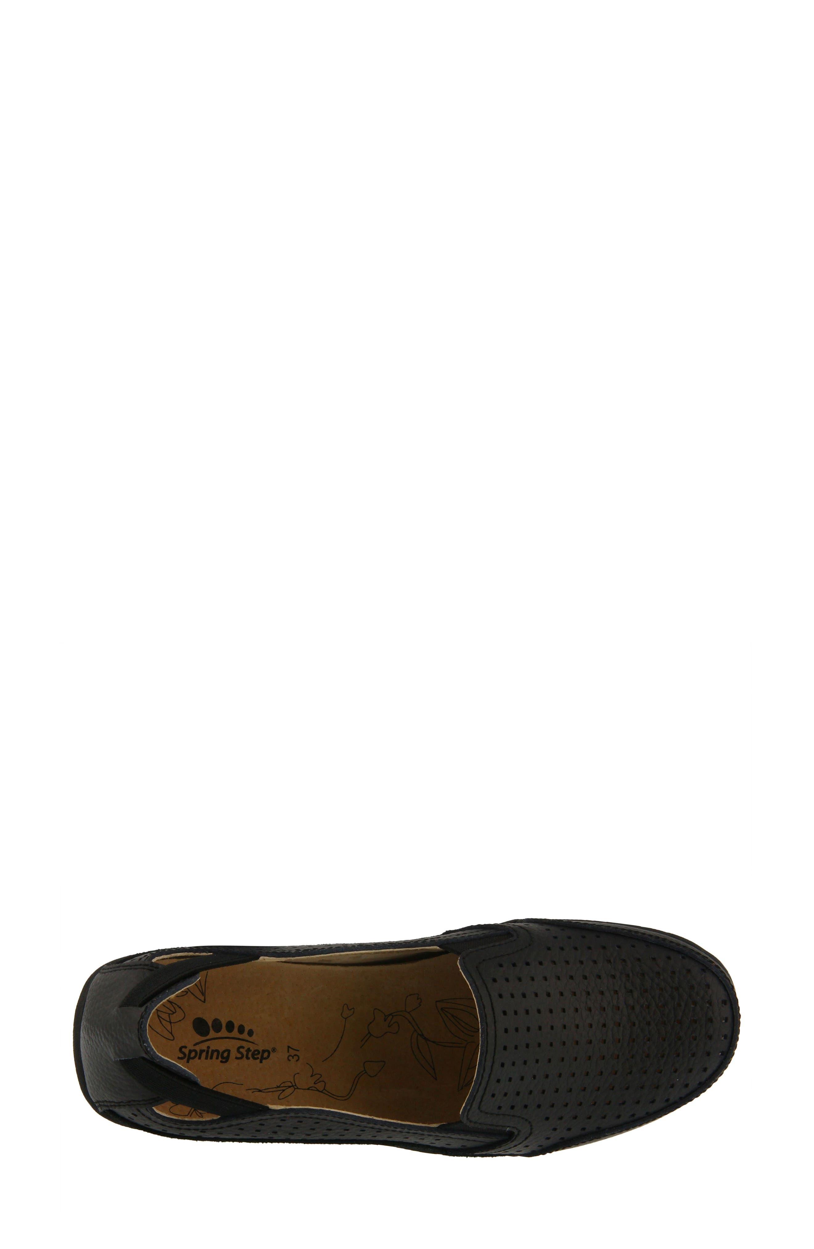 Juhi Loafer,                             Alternate thumbnail 4, color,                             BLACK LEATHER