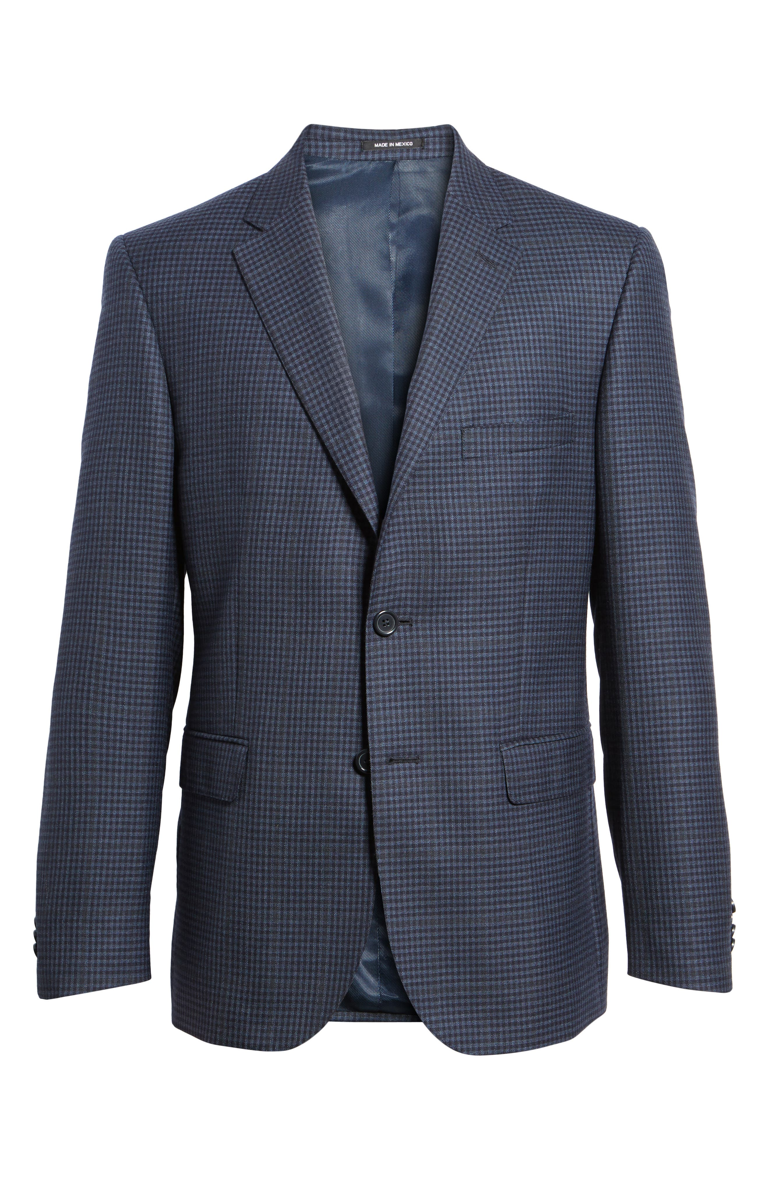 Classic Fit Check Wool Sport Coat,                             Alternate thumbnail 5, color,