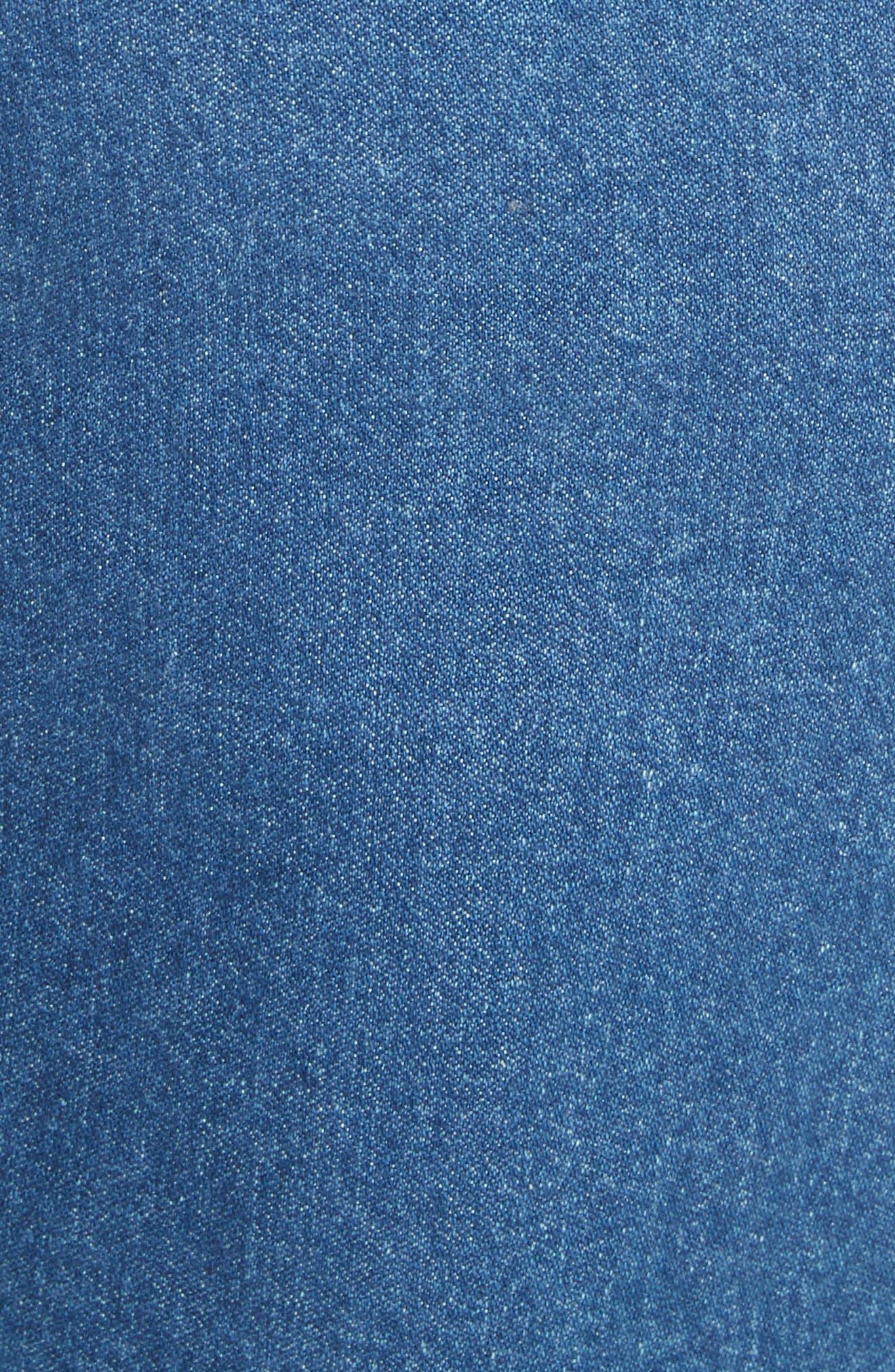 Suji Denim Skirt,                             Alternate thumbnail 5, color,                             401