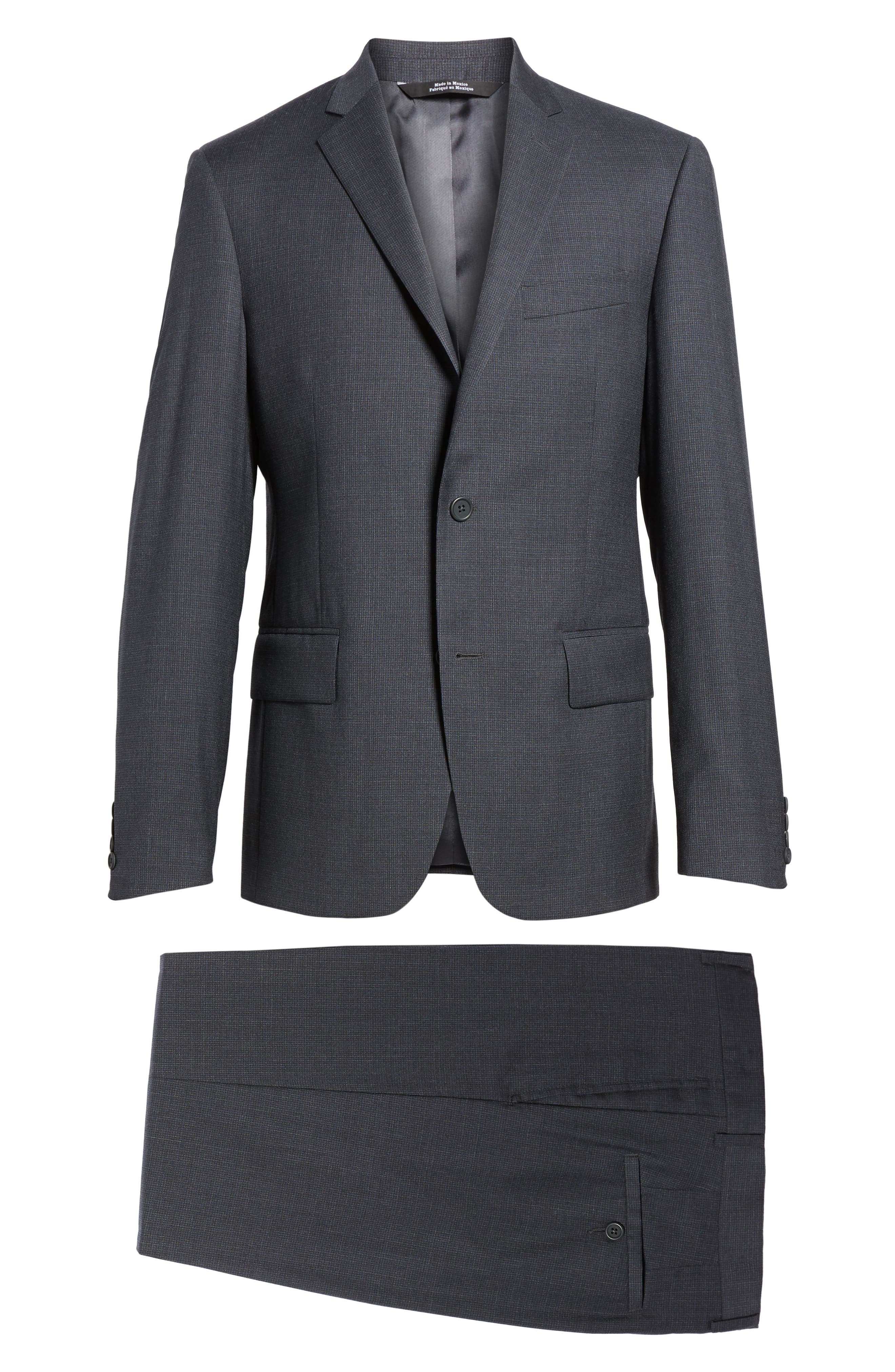 Classic Fit Check Wool Suit,                             Alternate thumbnail 24, color,