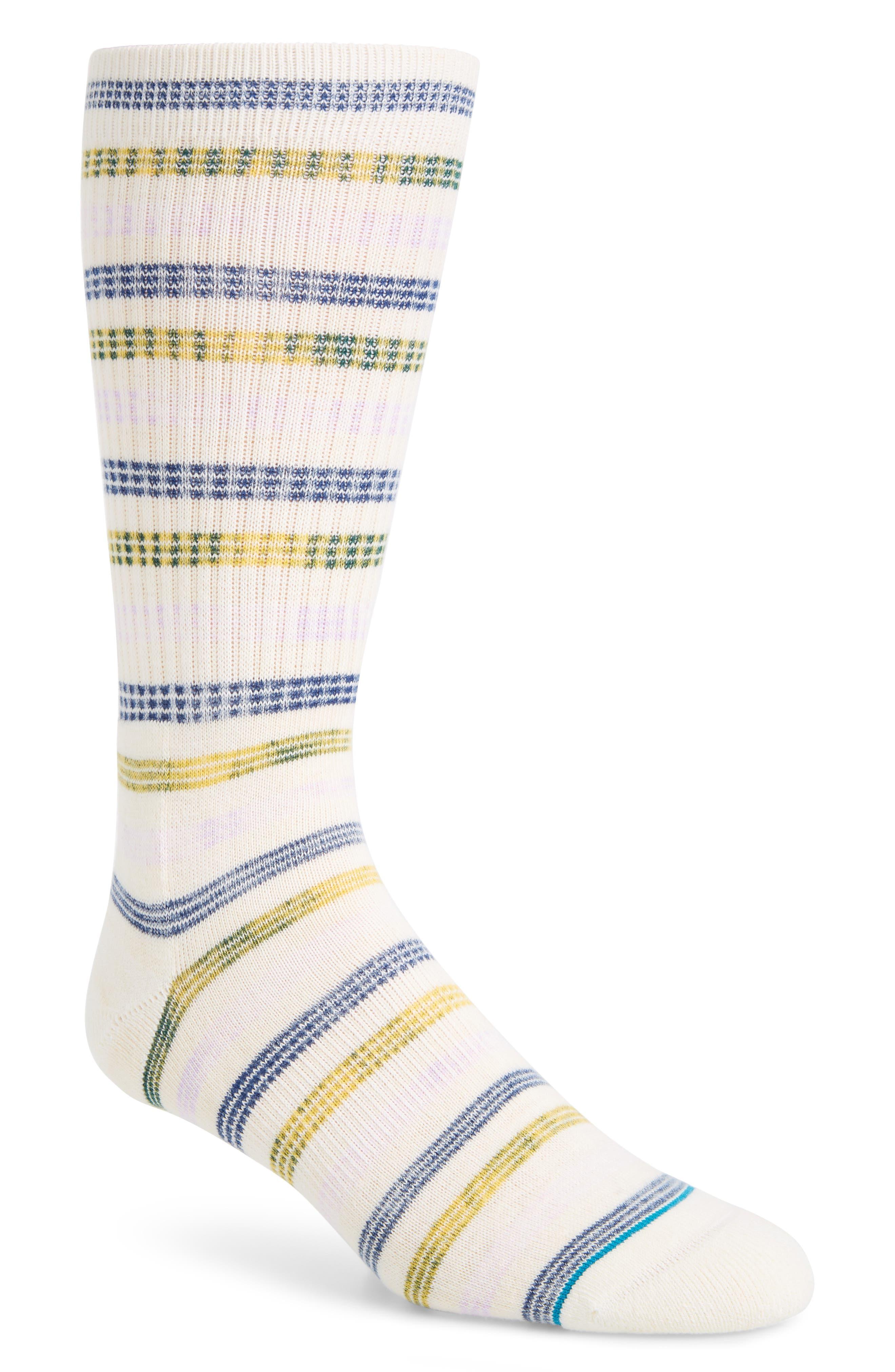 Somme Stripe Socks,                             Main thumbnail 1, color,                             WHITE