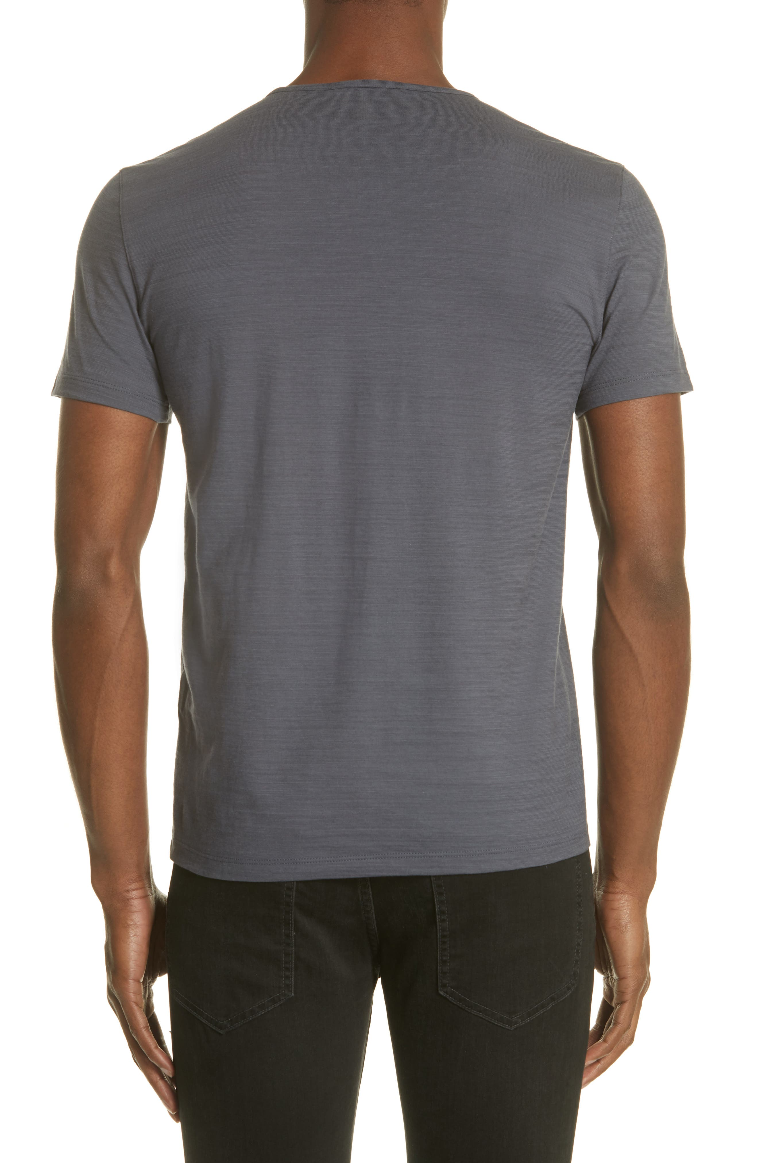 Slub Crewneck T-Shirt,                             Alternate thumbnail 2, color,                             AUBERGINE