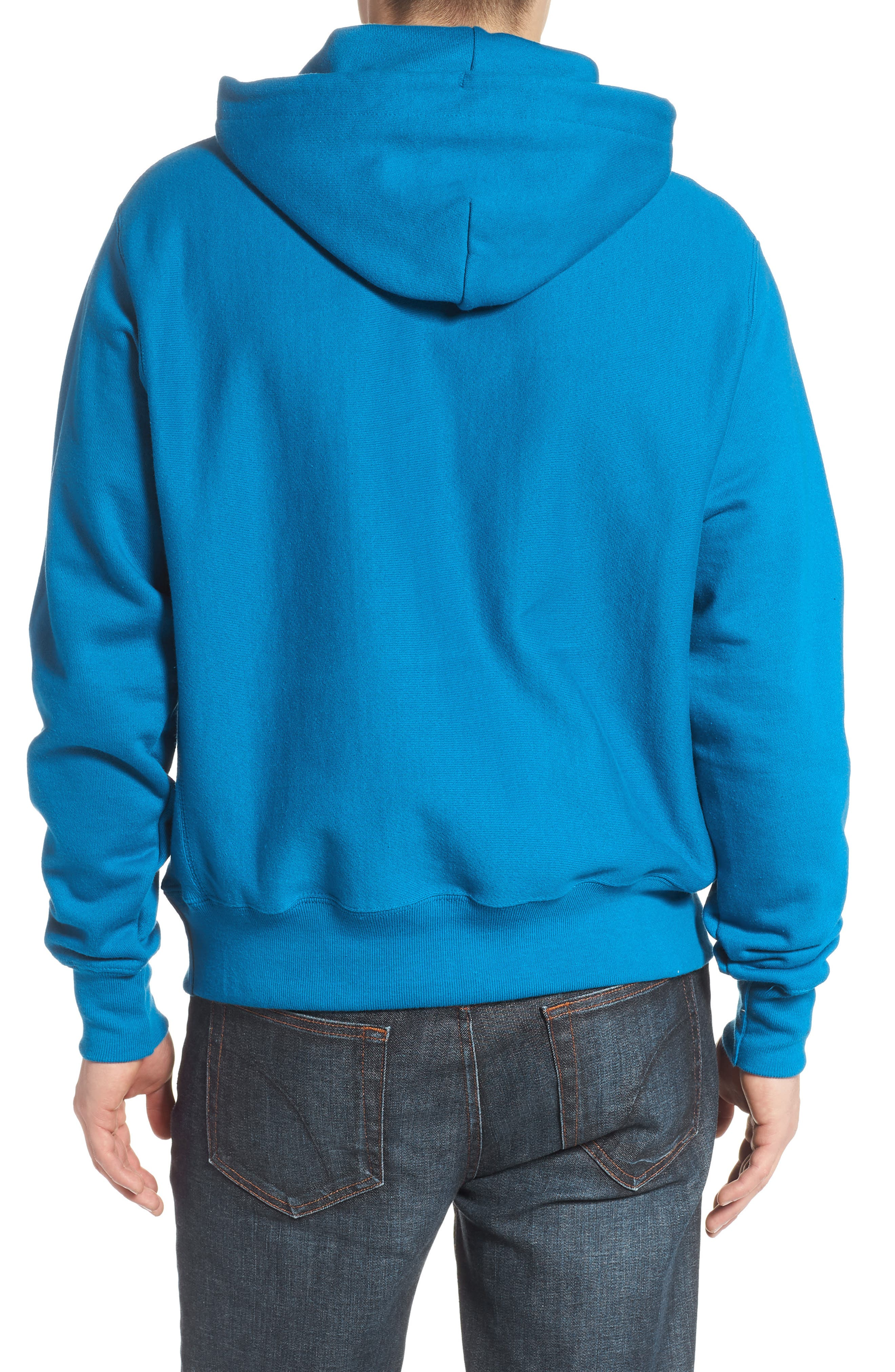 Reverse Weave<sup>®</sup> Pullover Hoodie,                             Alternate thumbnail 2, color,                             DEEP HOTLINE BLUE