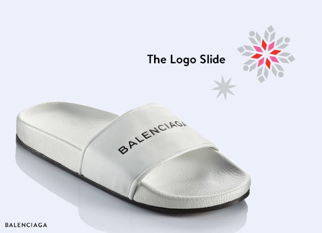 Designer holiday gifts: Balenciaga slide sandal.