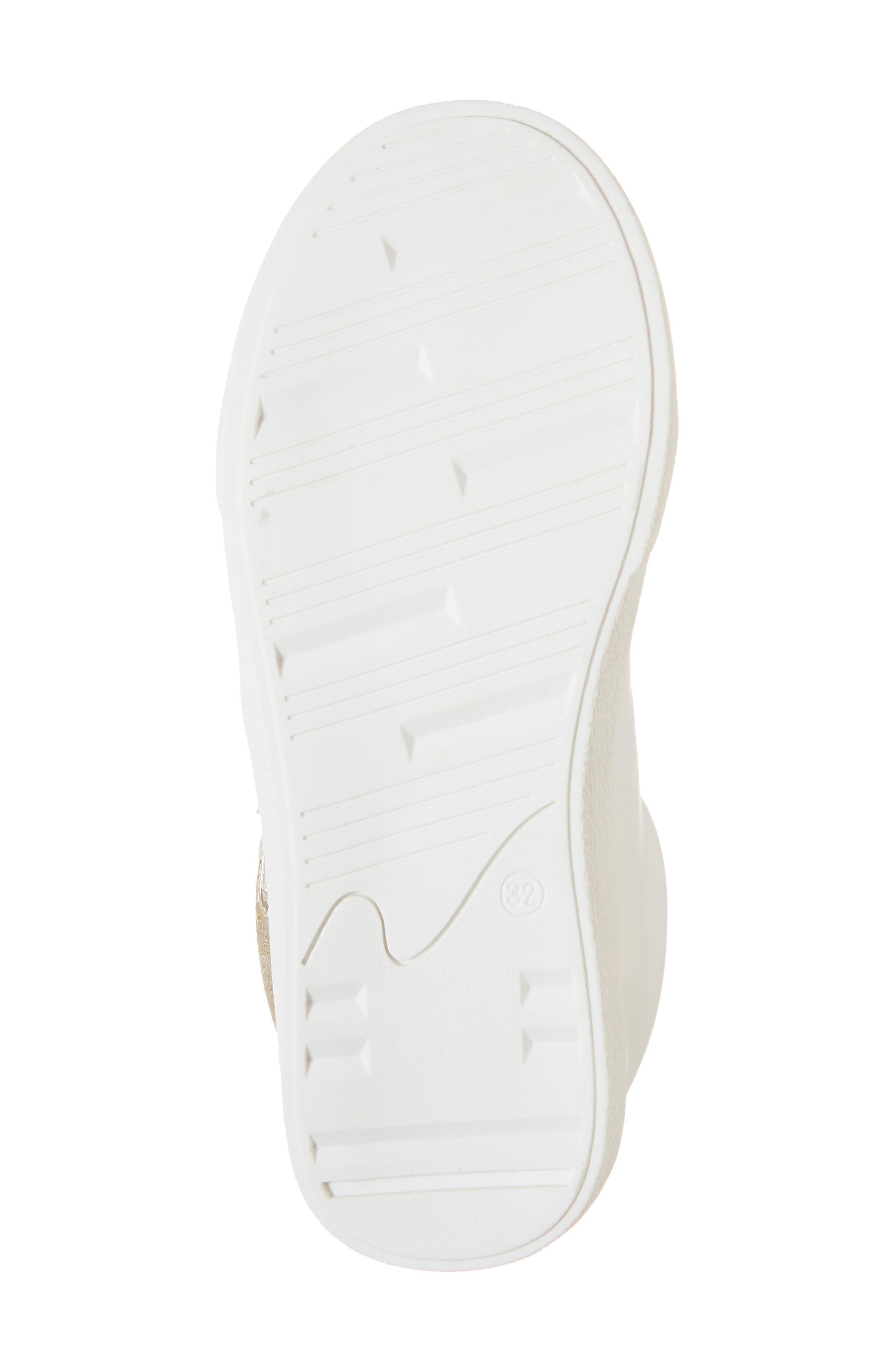 Miss Harper Appliqué Glitter Sneaker,                             Alternate thumbnail 6, color,                             WHITE W/ GOLD STAR