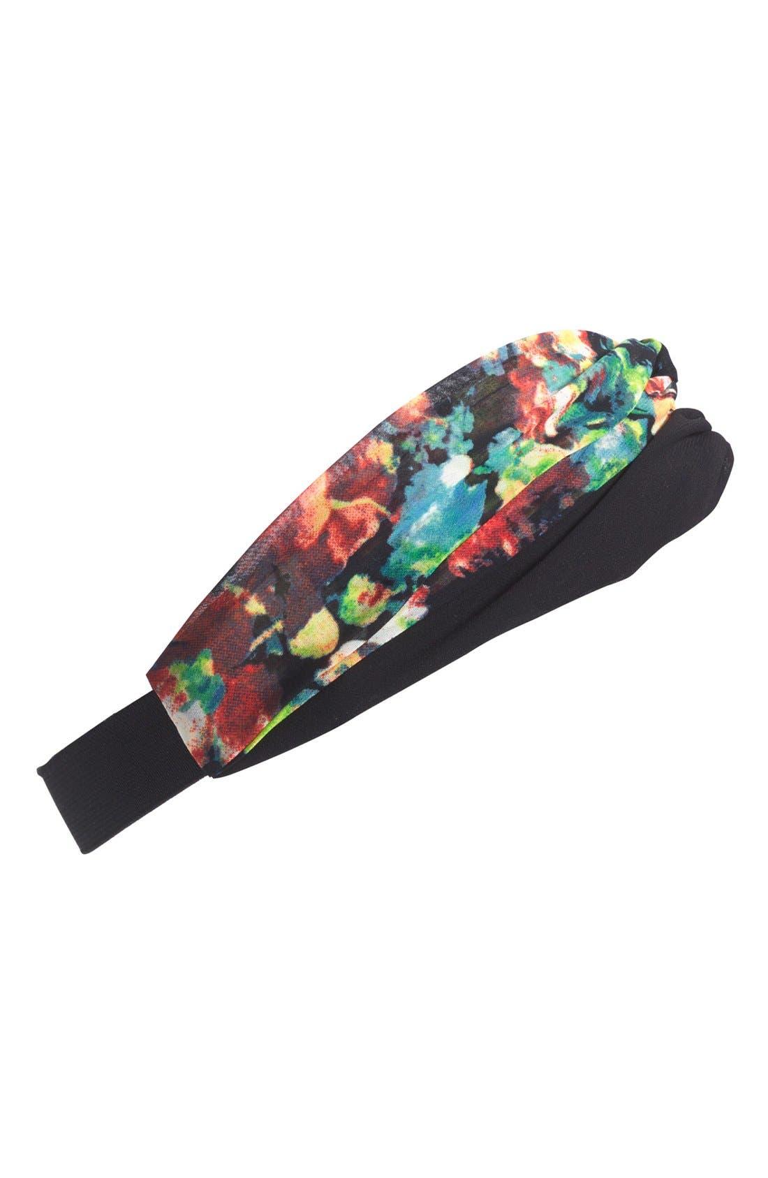 Floral Print Head Wrap,                             Main thumbnail 1, color,                             001
