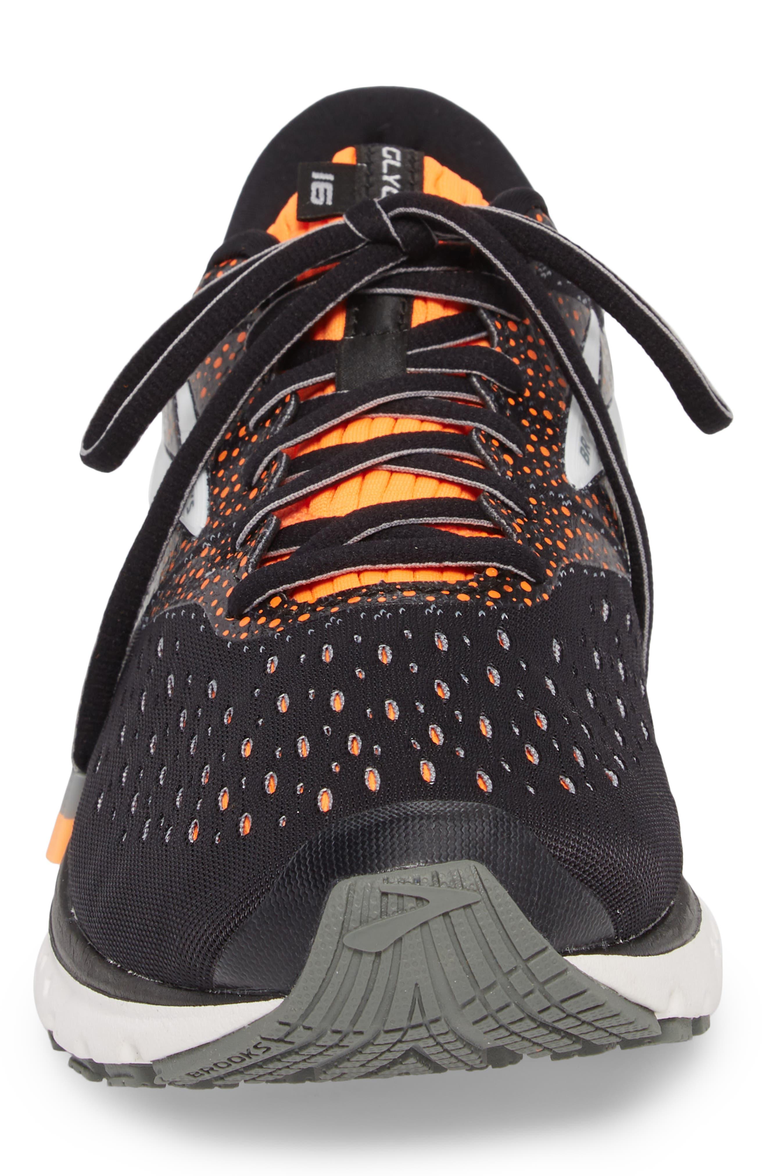 Glycerin 16 Running Shoe,                             Alternate thumbnail 4, color,                             BLACK/ ORANGE/ GREY
