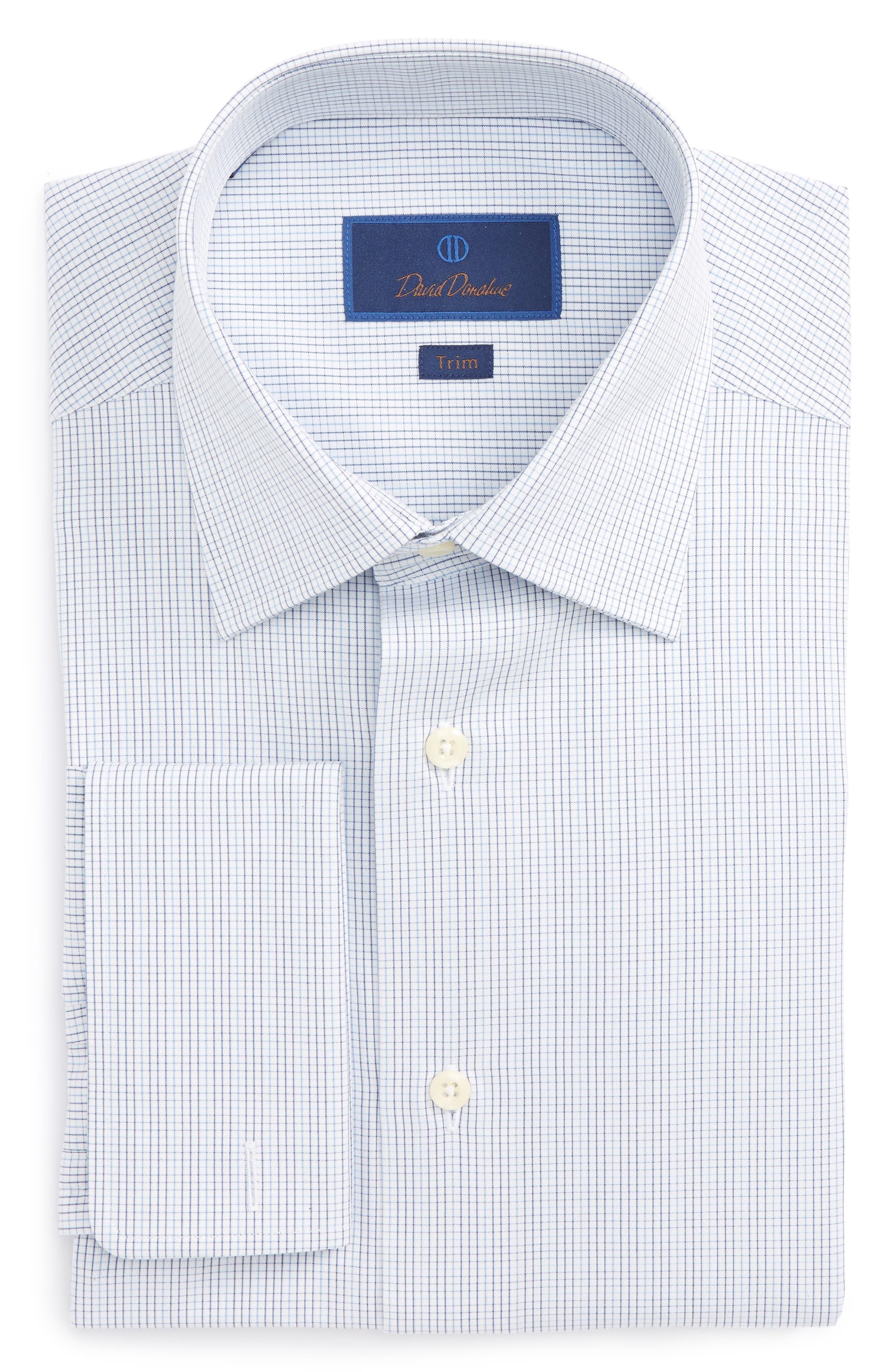 Trim Fit Check Dress Shirt,                         Main,                         color, 423