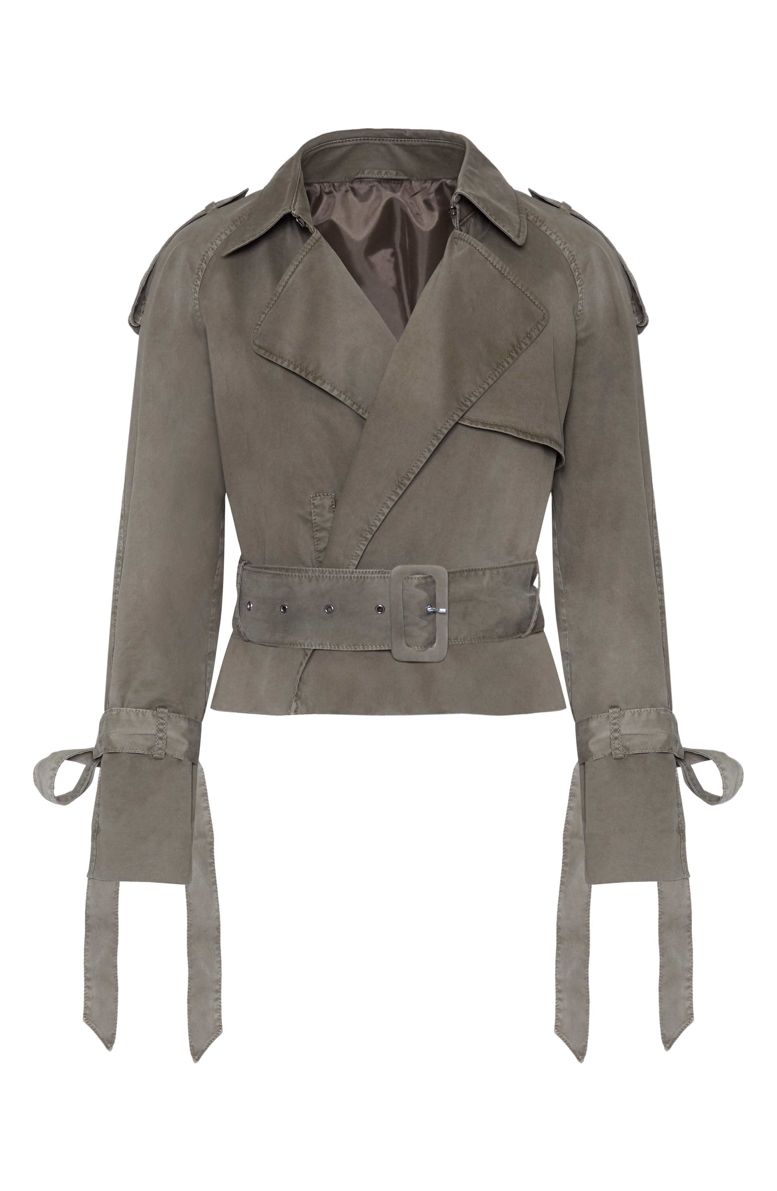 ANINE BING,                             Aria Trench Jacket,                             Alternate thumbnail 5, color,                             300