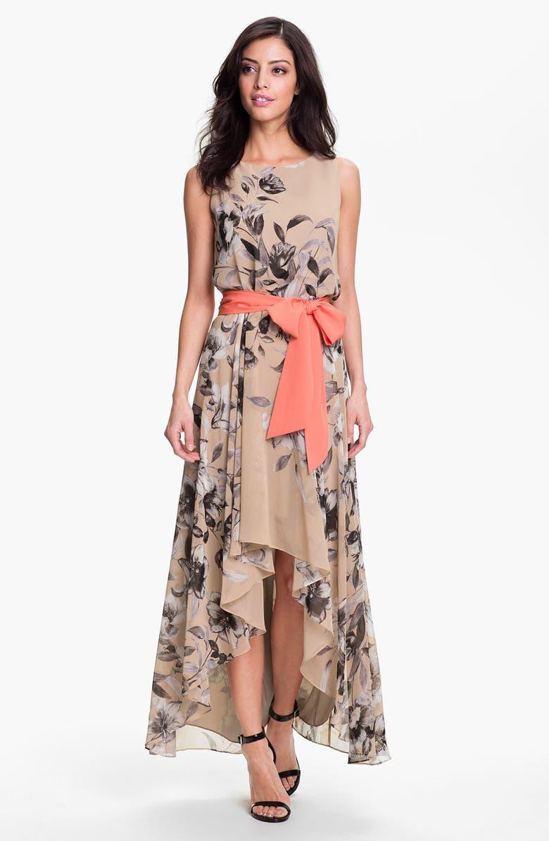 Eliza J Print High Low Chiffon Maxi Dress Nordstrom