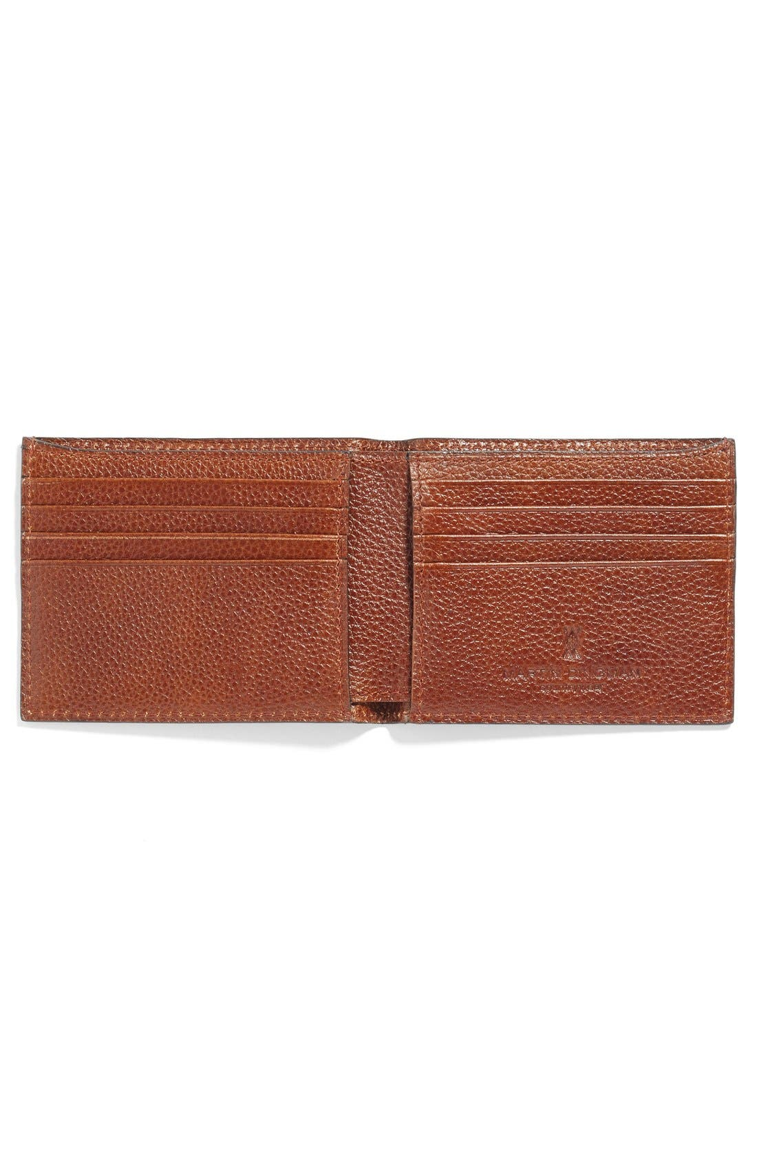 Leather Wallet,                             Alternate thumbnail 4, color,