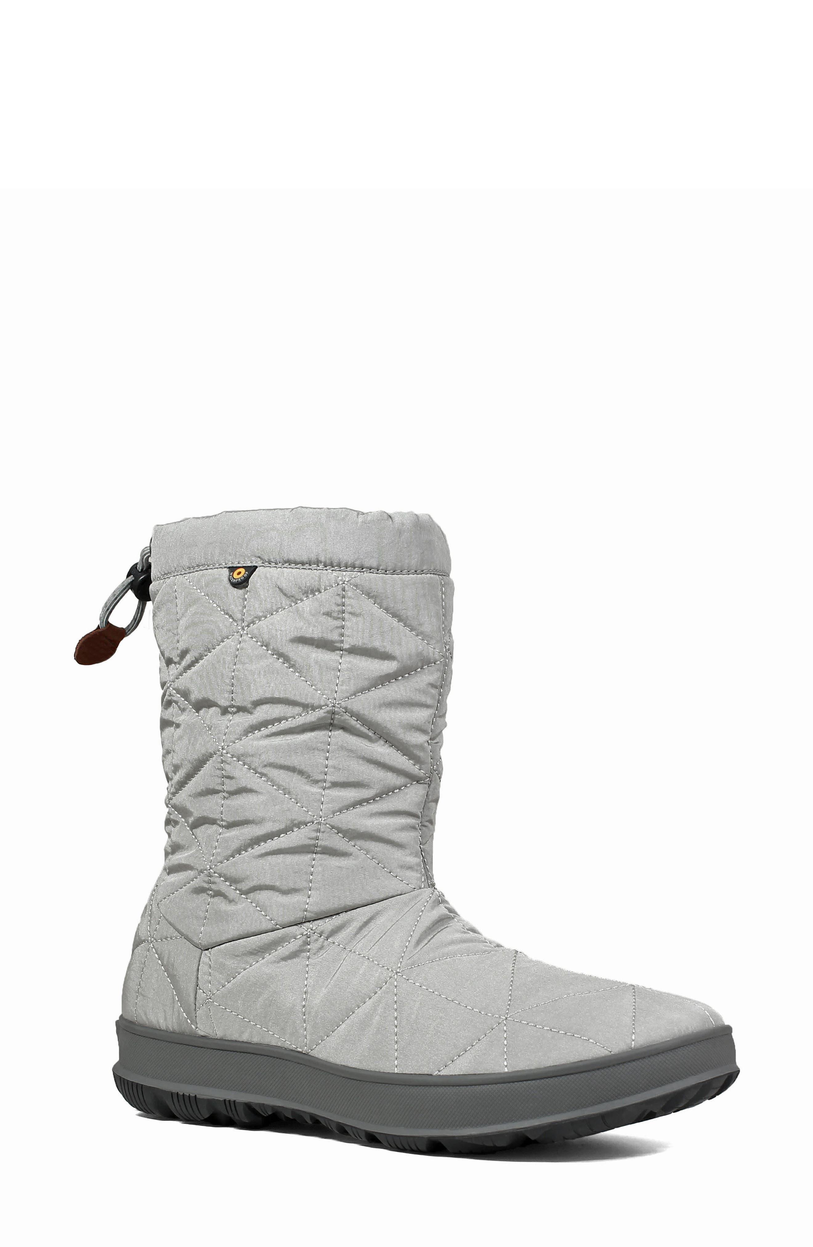 Bogs Mid Snowday Waterproof Bootie, Grey