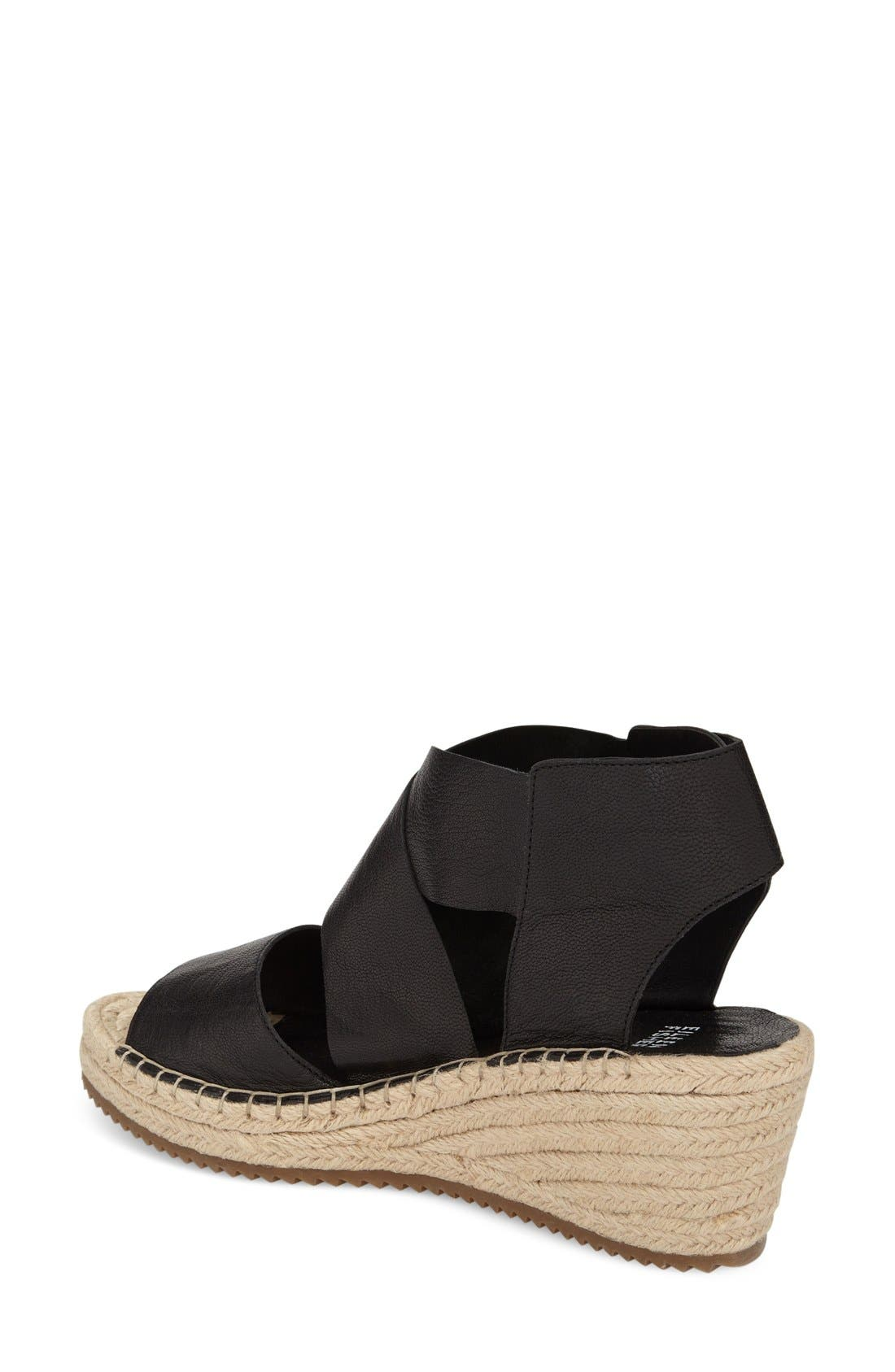 'Willow' Espadrille Wedge Sandal,                             Alternate thumbnail 3, color,                             001