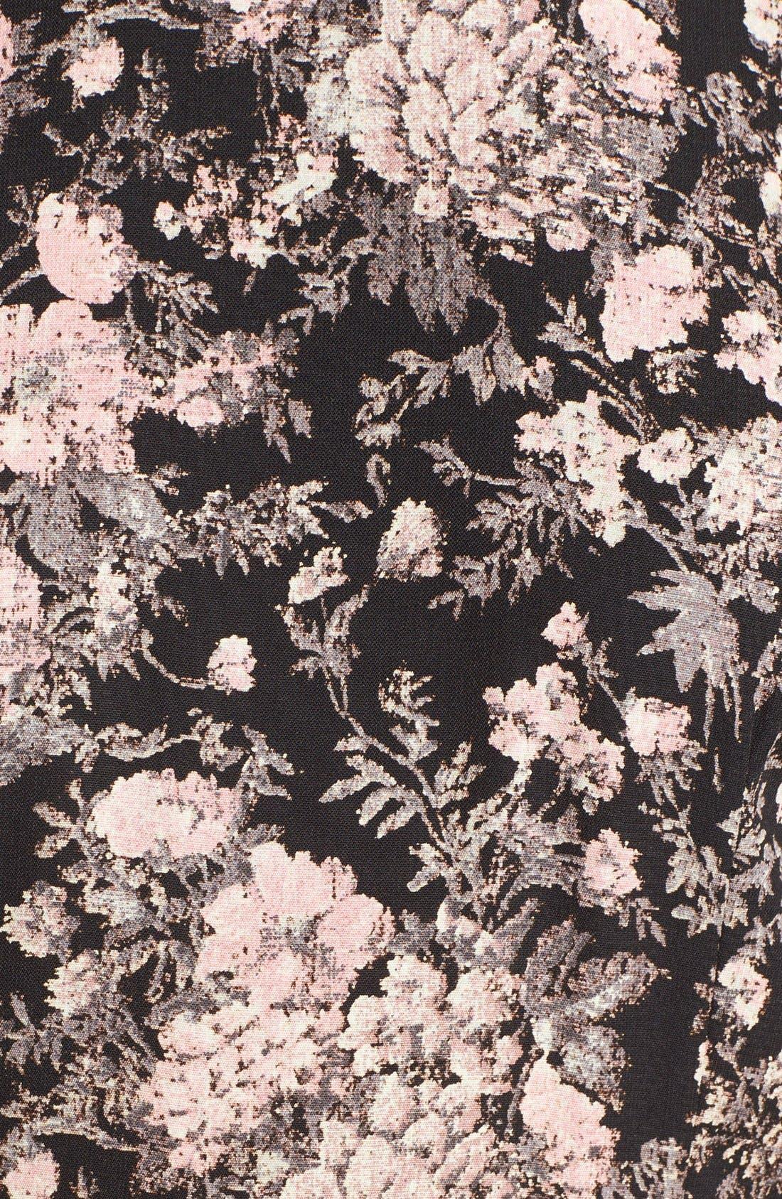 SIENNA SKY,                             Floral Print Long Sleeve Romper,                             Alternate thumbnail 2, color,                             001