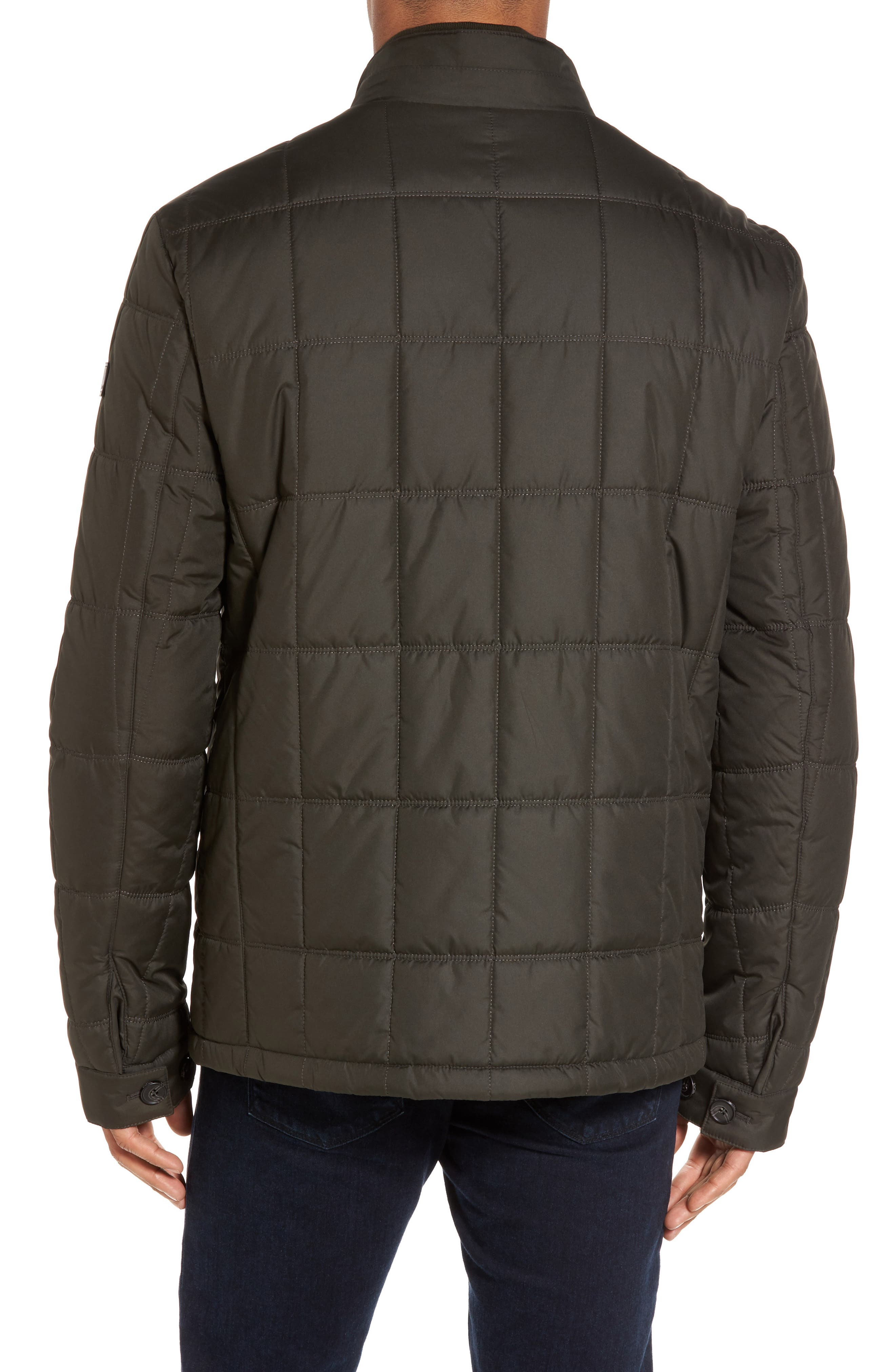 Regular Fit Quilted Jacket,                             Alternate thumbnail 6, color,
