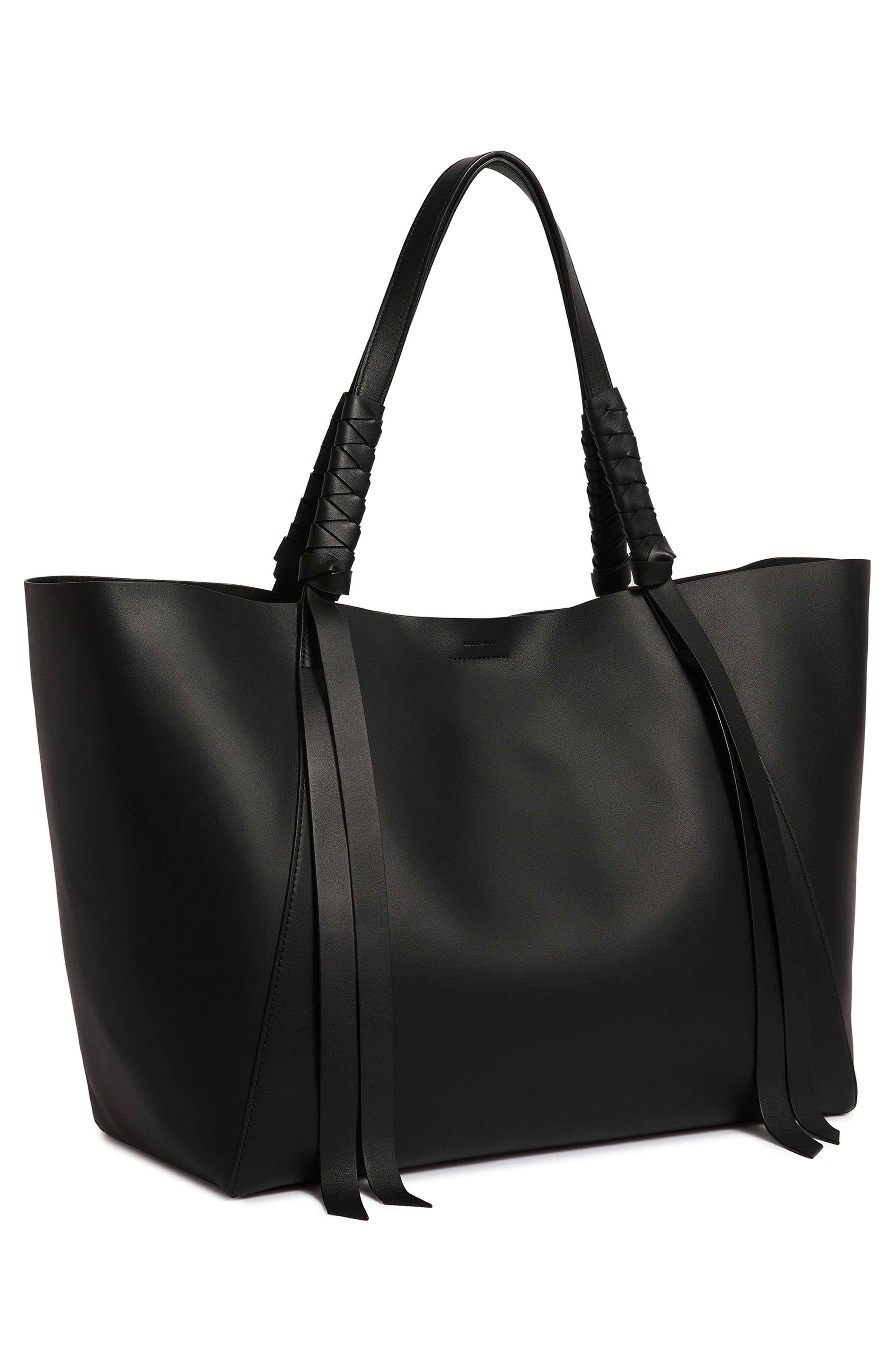 Voltaire Leather Tote,                             Alternate thumbnail 7, color,                             BLACK