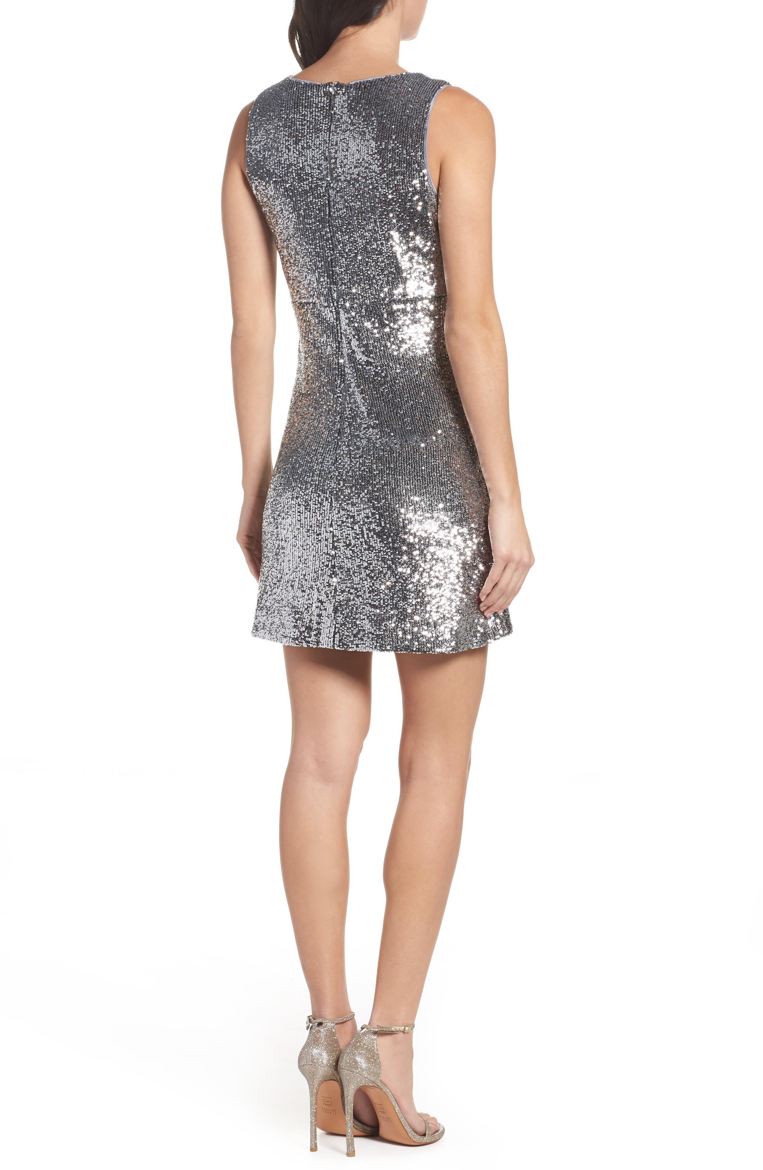 Sequin A-Line Dress,                             Alternate thumbnail 2, color,
