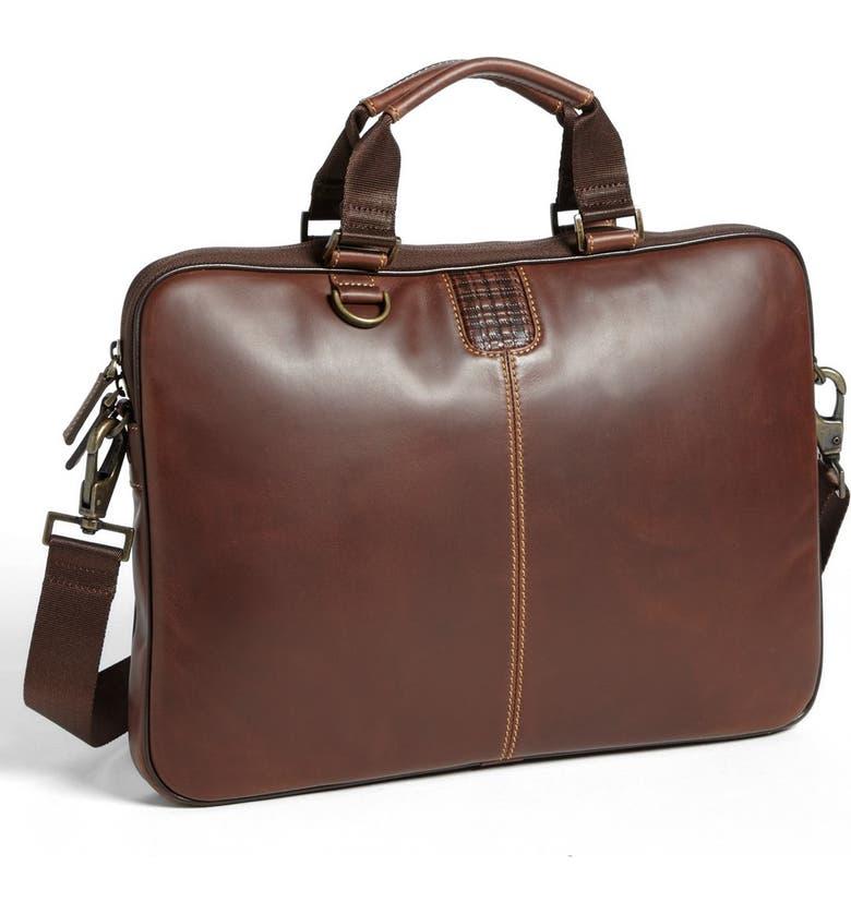 Bryant Slim Leather Laptop Briefcase Main