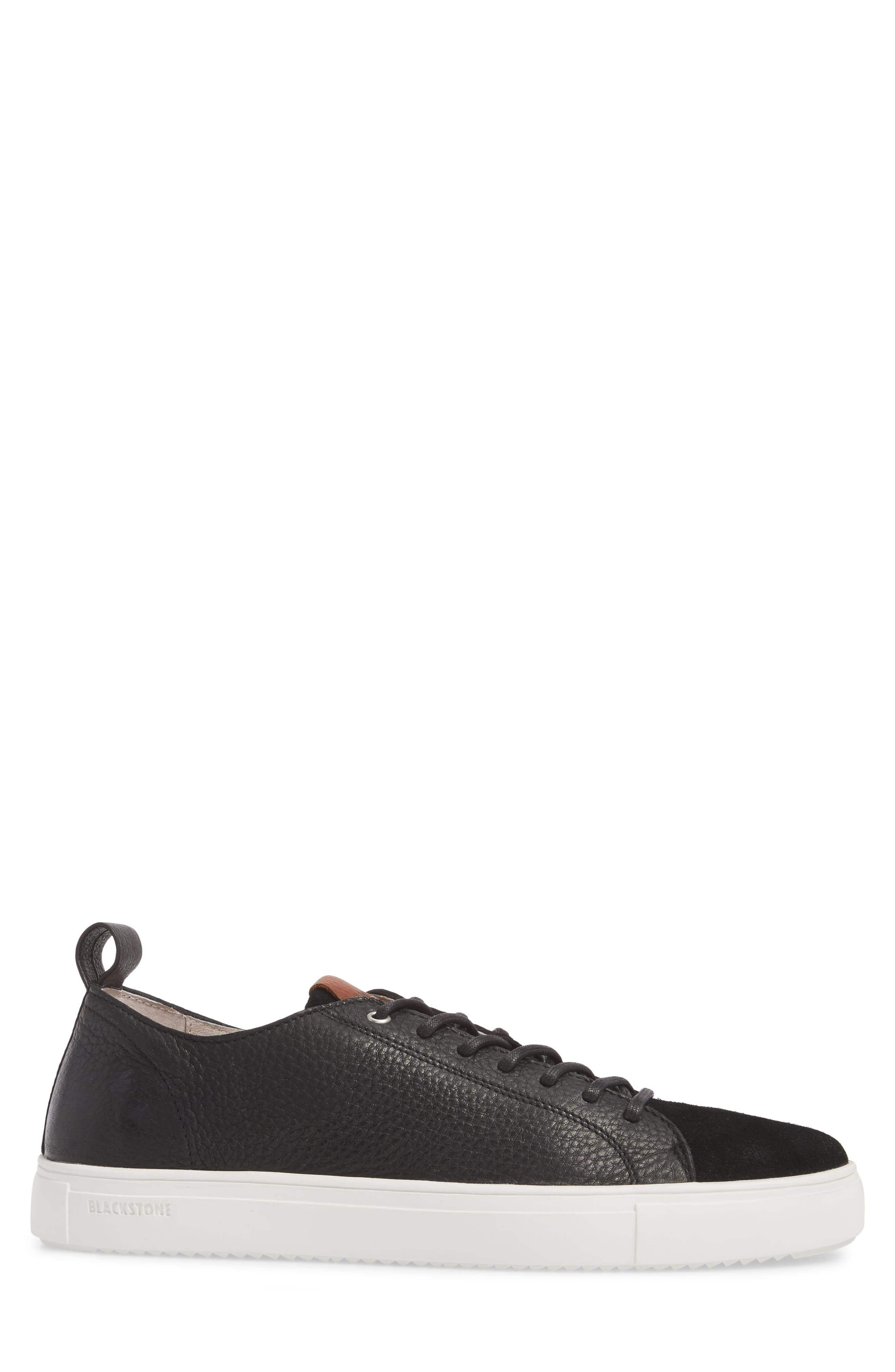 PM46 Low Top Sneaker,                             Alternate thumbnail 3, color,                             BLACK LEATHER