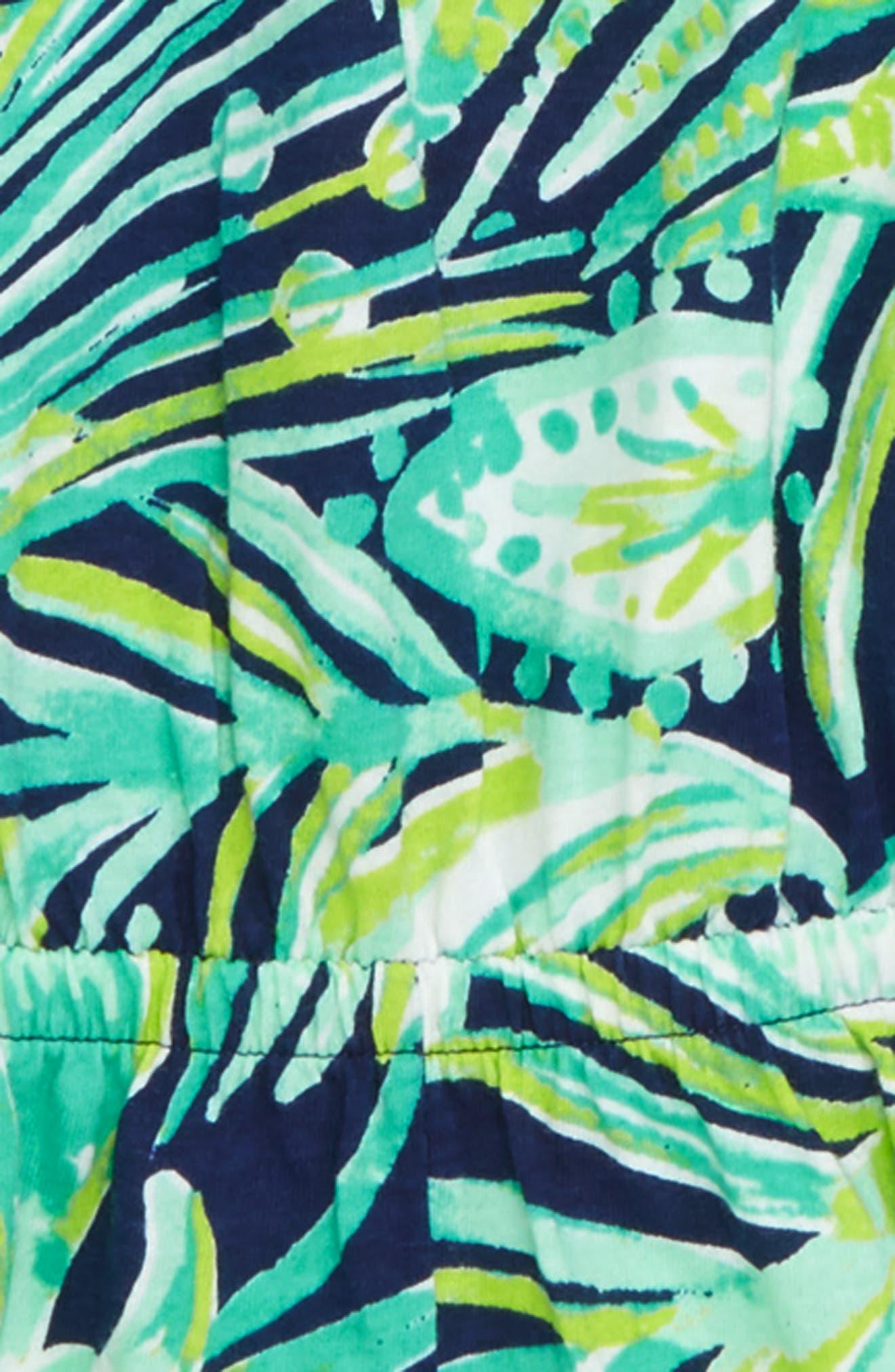 Mini Calla Off the Shoulder Romper,                             Alternate thumbnail 2, color,                             BRIGHT NAVT FLOCKSTAR