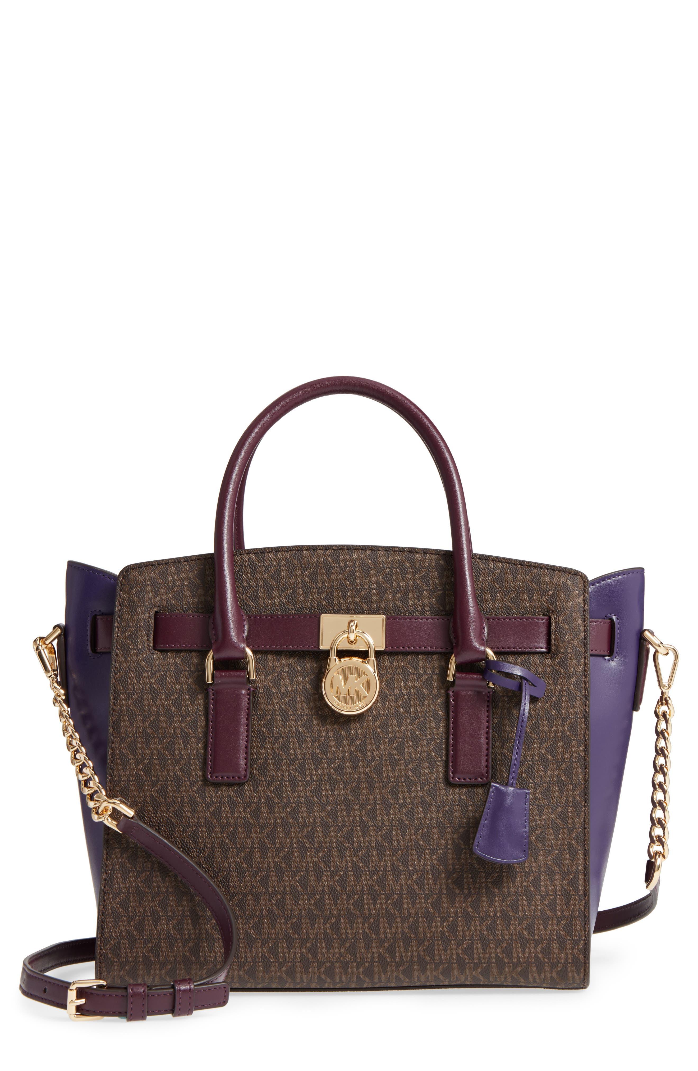 Large Hamilton Leather Satchel,                         Main,                         color, 208