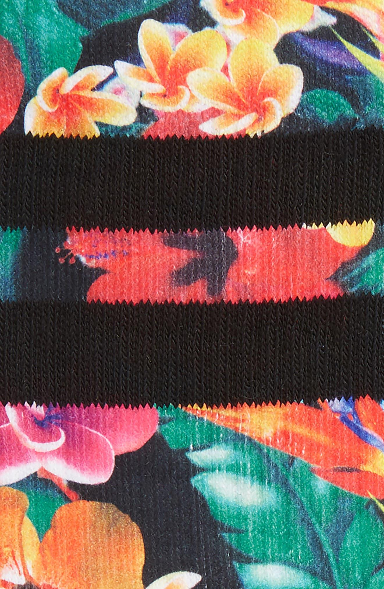 Pau Floral Socks,                             Alternate thumbnail 2, color,                             GREEN MULTI