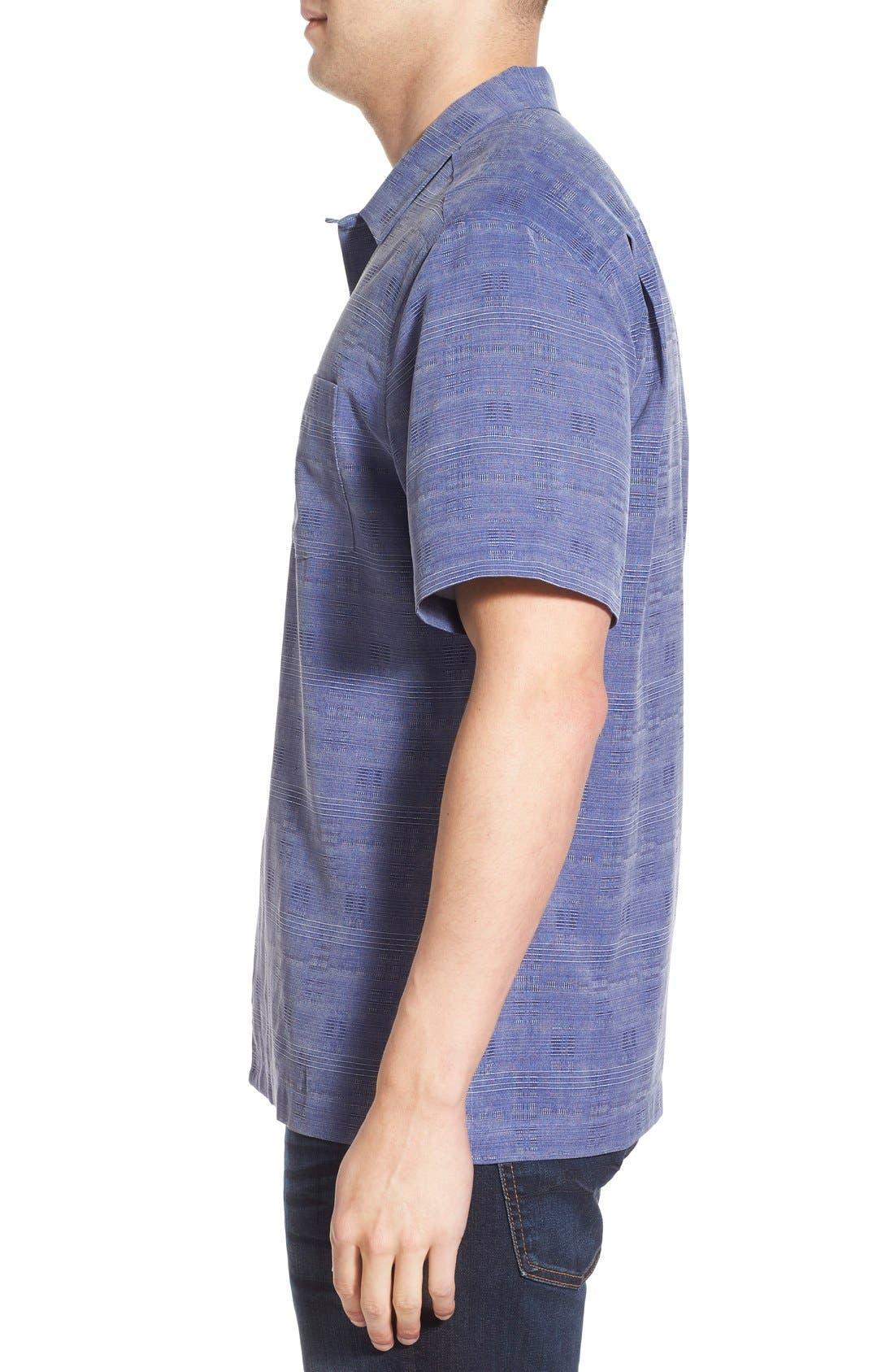 'Geo-Rific Jacquard' Original Fit Silk Camp Shirt,                             Alternate thumbnail 21, color,