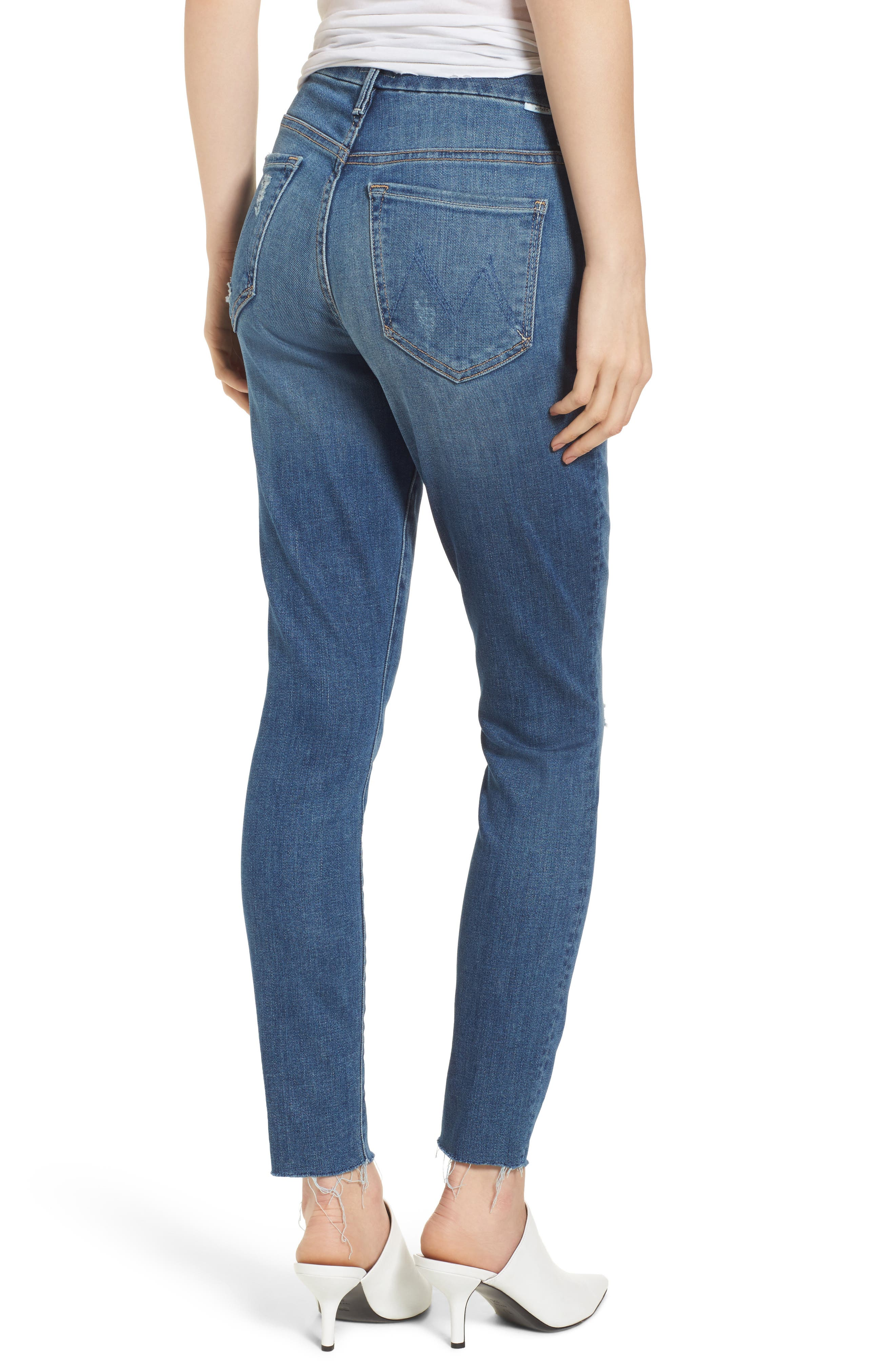 The Looker Frayed Ankle Jeans,                             Alternate thumbnail 2, color,                             420