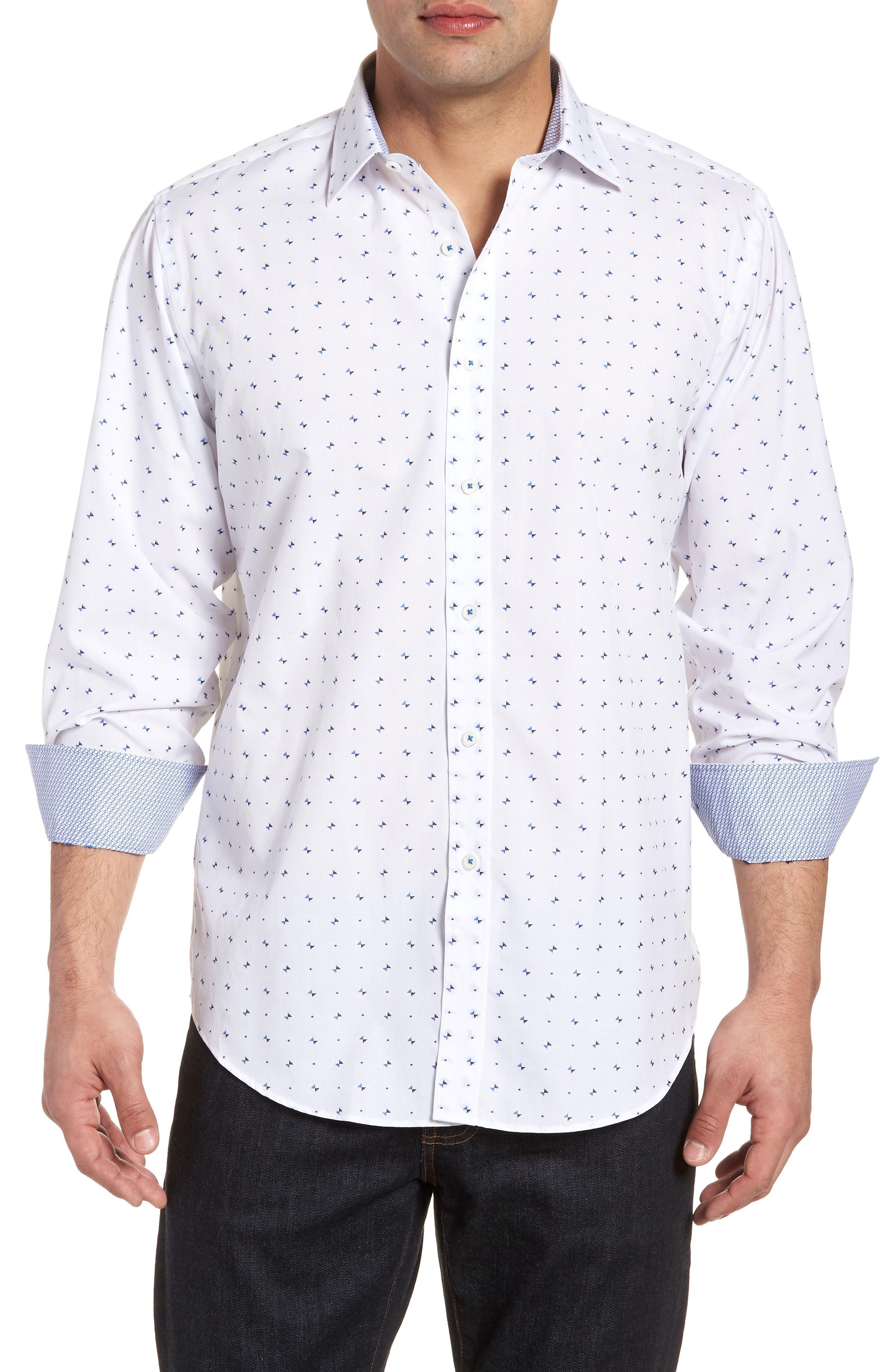 Classic Fit Woven Sport Shirt,                             Main thumbnail 1, color,                             100
