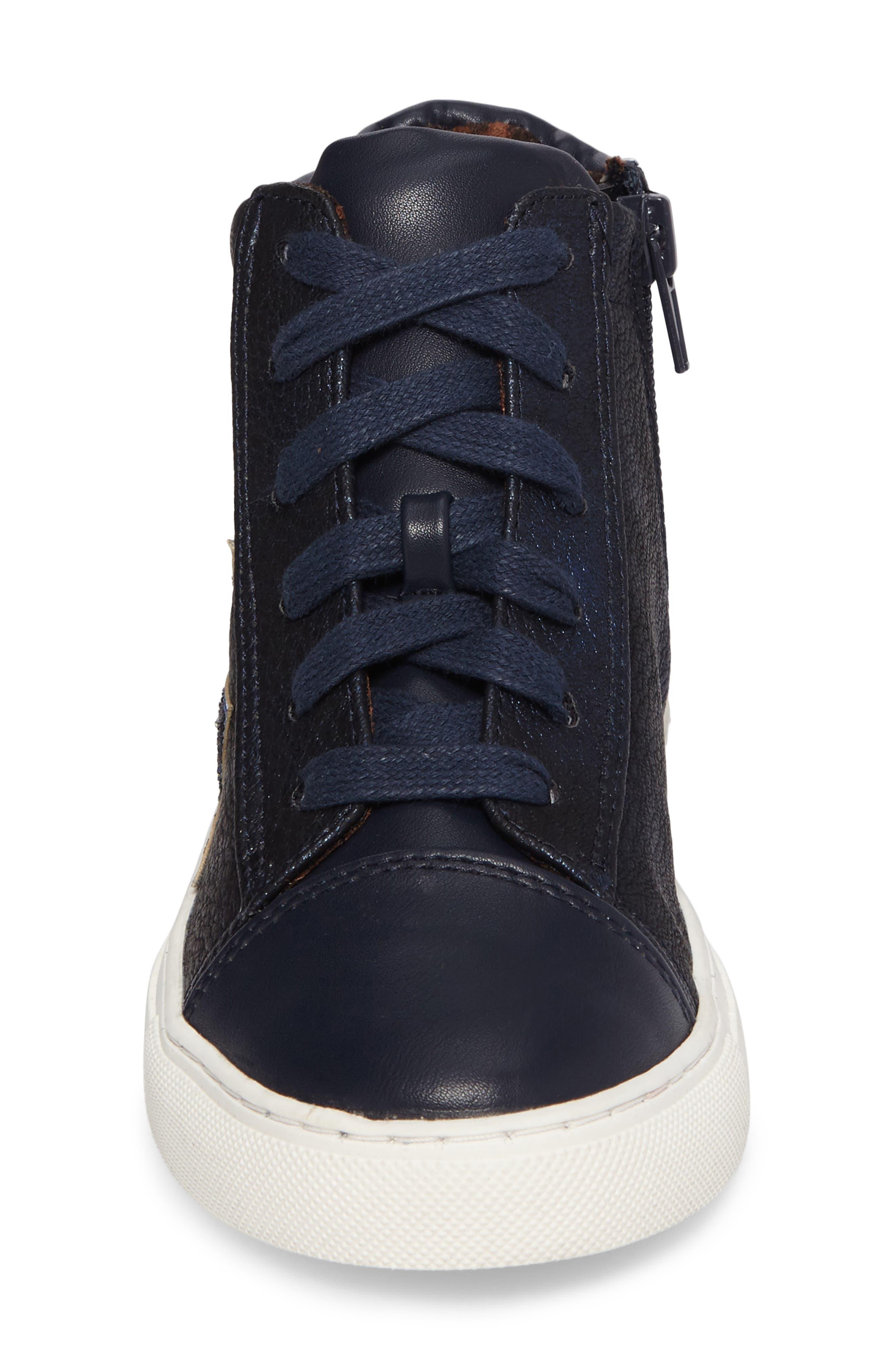 Jflash Glitter Star High Top Sneaker,                             Alternate thumbnail 4, color,