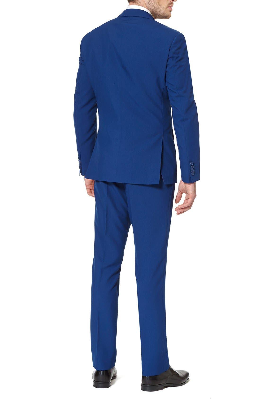 'Navy Royale' Trim Fit Two-Piece Suit with Tie,                             Alternate thumbnail 3, color,                             410