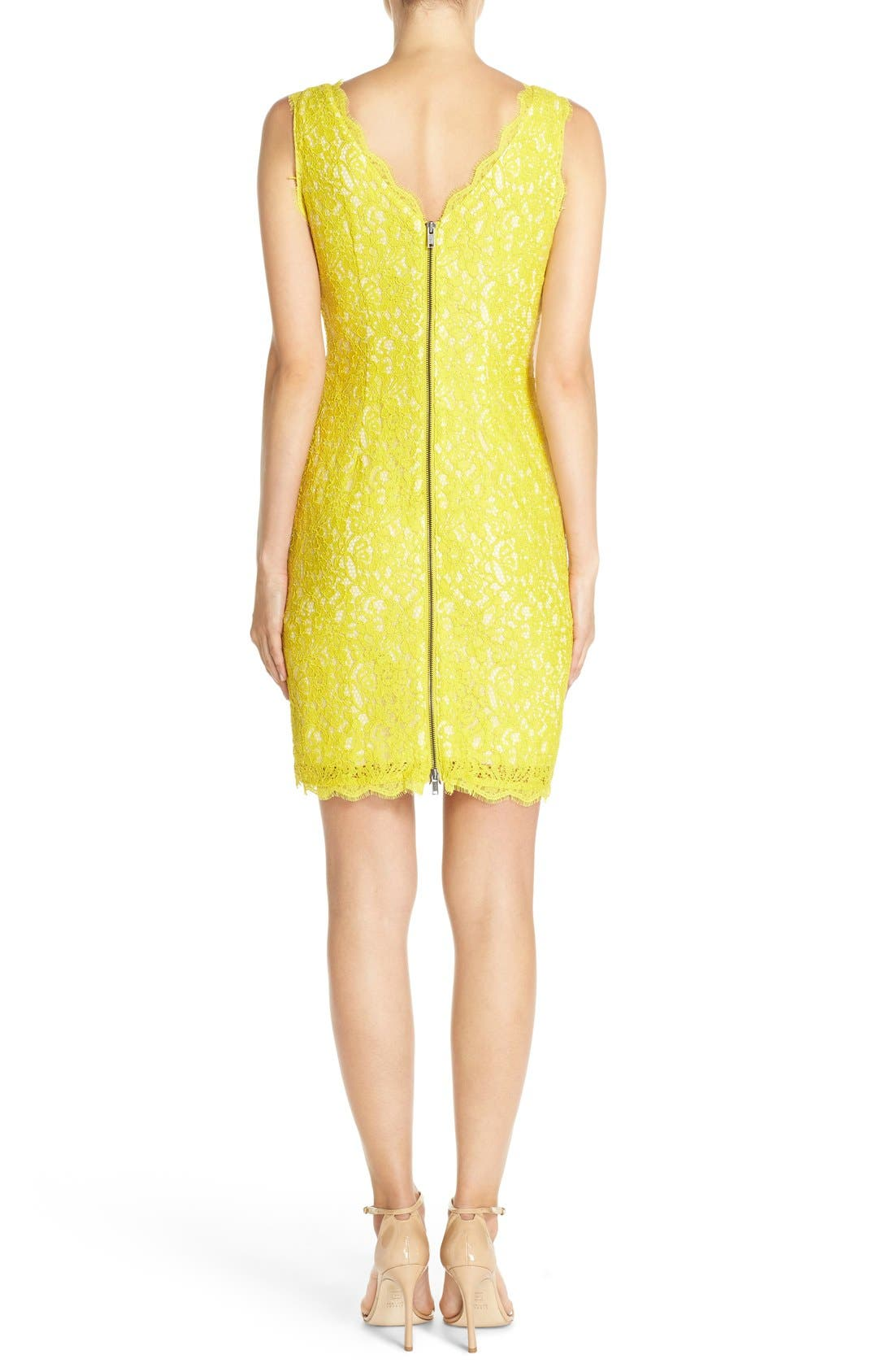 Boatneck Lace Sheath Dress,                             Alternate thumbnail 119, color,