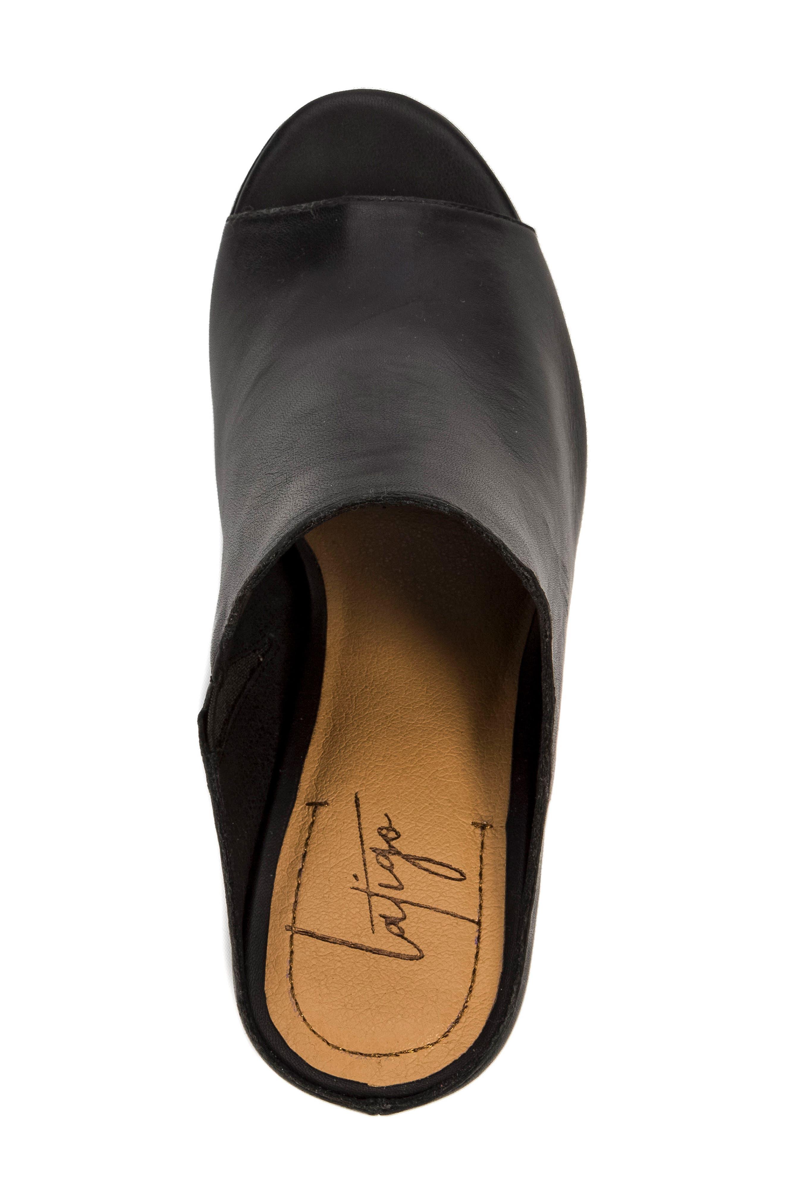 Hallie Loafer Sandal,                             Alternate thumbnail 5, color,                             001